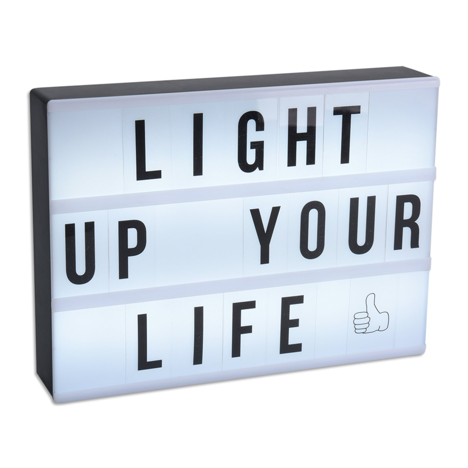 led lichtbox lightbox mit buchstaben dekoleuchten lampen roller m belhaus. Black Bedroom Furniture Sets. Home Design Ideas