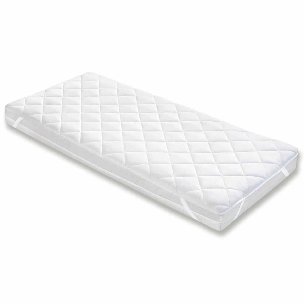 matratzenauflage wei polyester 140x200 cm schoner. Black Bedroom Furniture Sets. Home Design Ideas