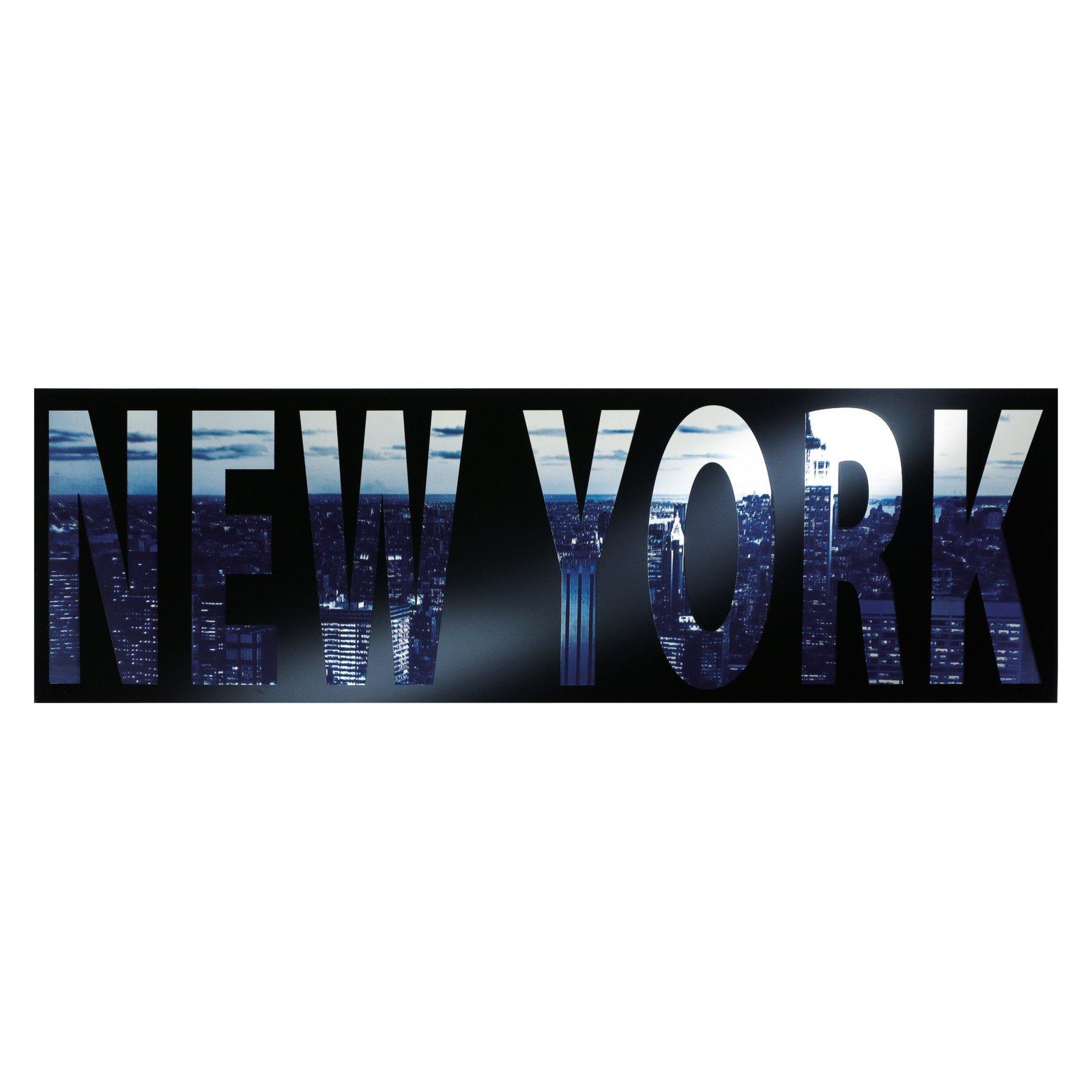siebdruckspiegel art of new york glasbild bilder gem lde deko wohnaccessoires. Black Bedroom Furniture Sets. Home Design Ideas