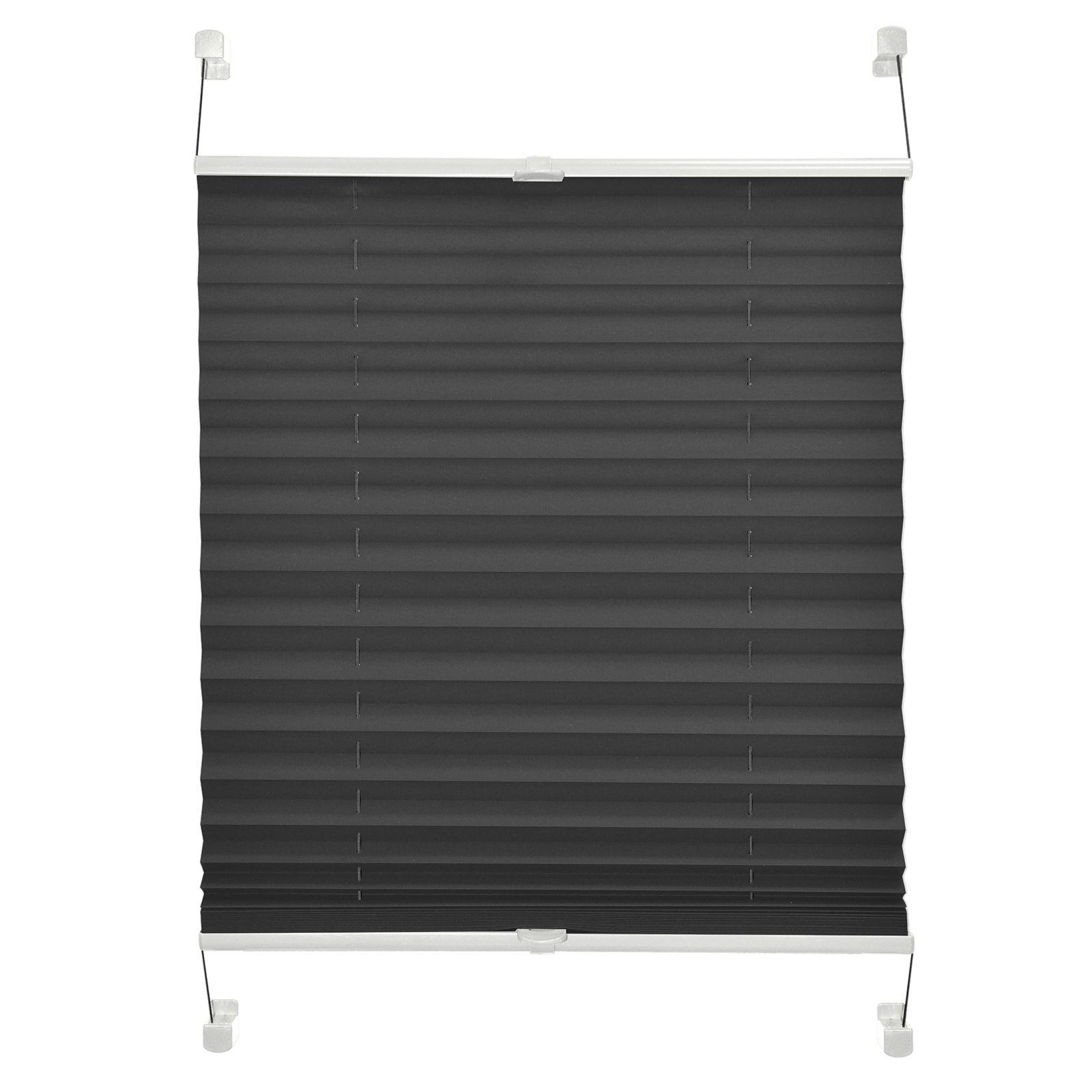 verdunklungs plissee blackout anthrazit 60x130 cm plissees rollos jalousien deko. Black Bedroom Furniture Sets. Home Design Ideas
