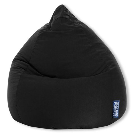 SITTING POINT - Sitzsack EASY BEANBAG XL - schwarz