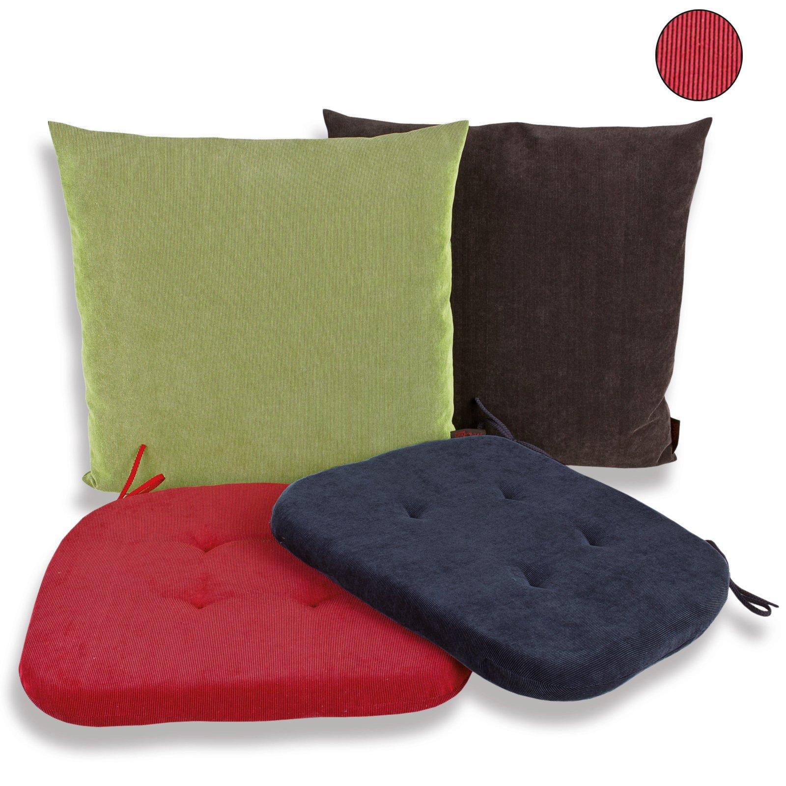 stuhlkissen trio weinrot cord 41x41 cm stuhl. Black Bedroom Furniture Sets. Home Design Ideas