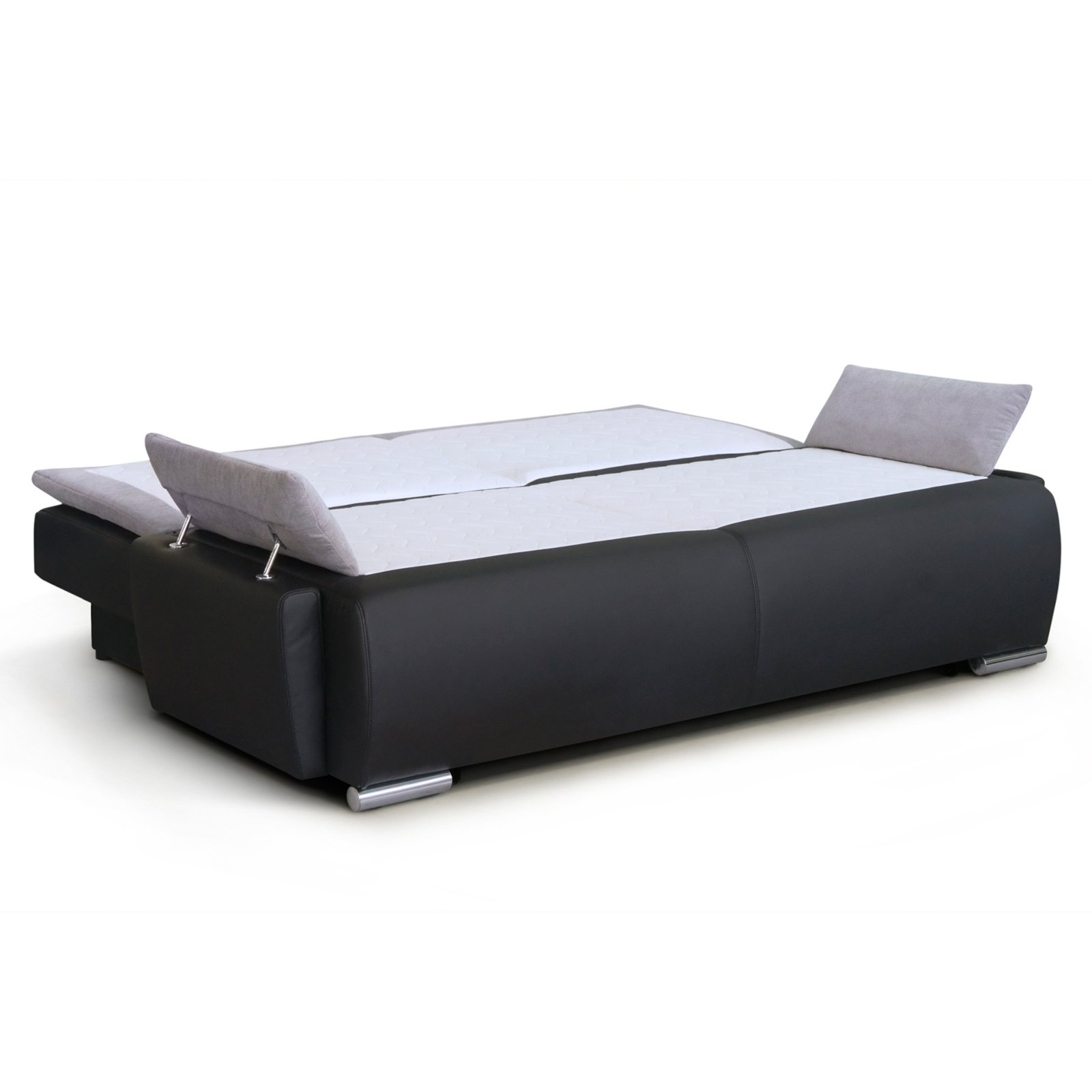 boxspringsofa schwarz grau dauerschl fer ebay. Black Bedroom Furniture Sets. Home Design Ideas