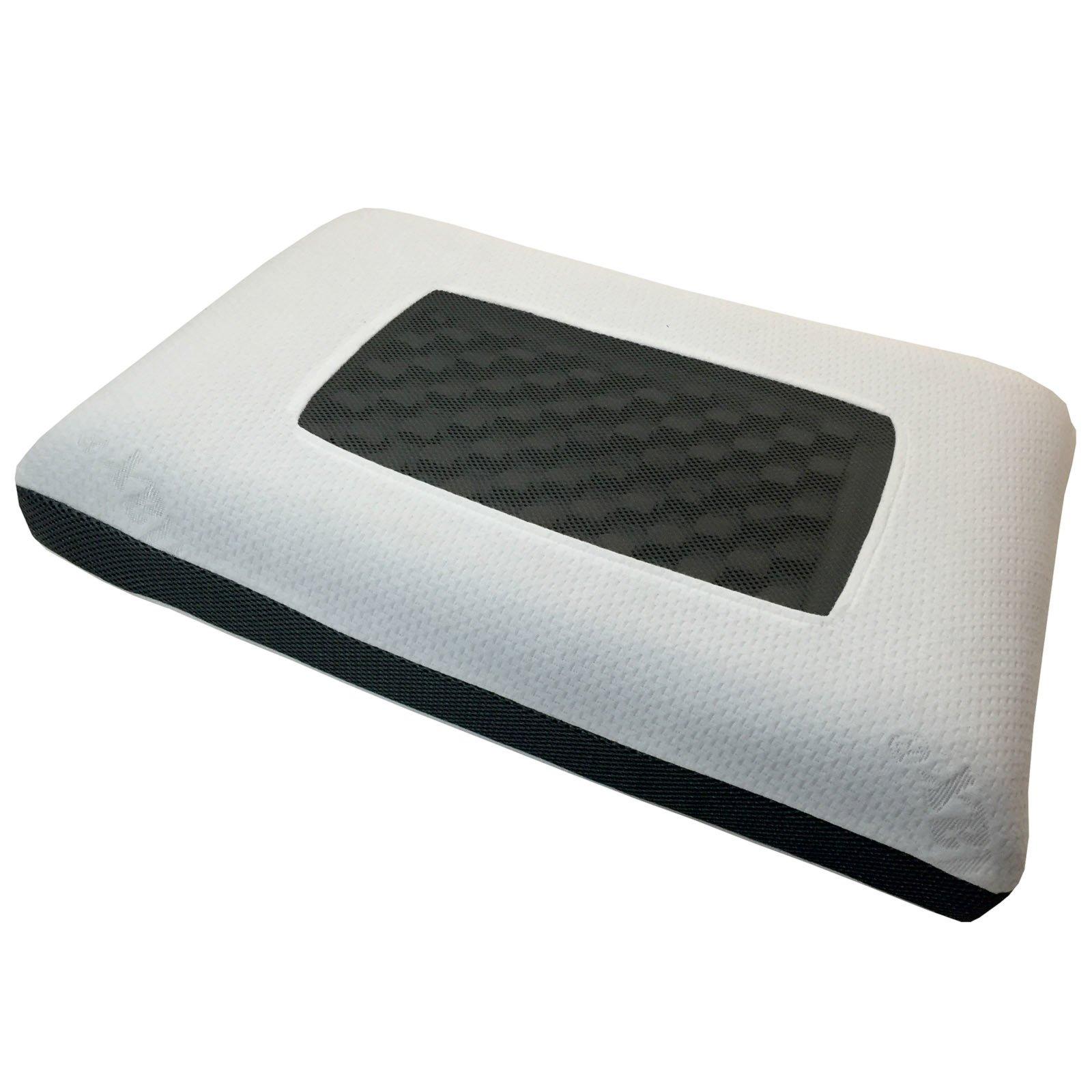 Visco-Nackenstützkissen CARBON - schwarz-weiß - 40x60 cm
