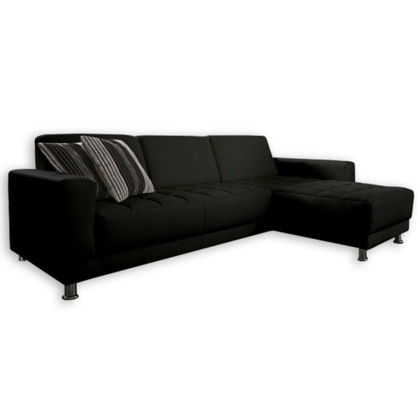 polsterecke schwarz kunstleder recamiere rechts ecksofas l form sofas couches. Black Bedroom Furniture Sets. Home Design Ideas