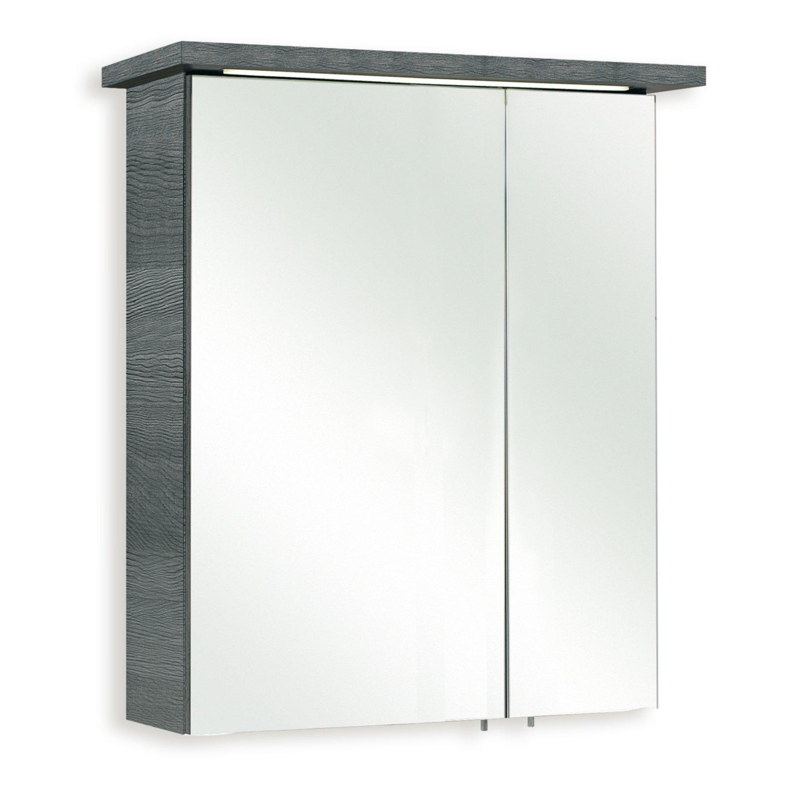 spiegelschrank cesa i graphit struktur 60 cm spiegelschr nke badm bel badezimmer. Black Bedroom Furniture Sets. Home Design Ideas