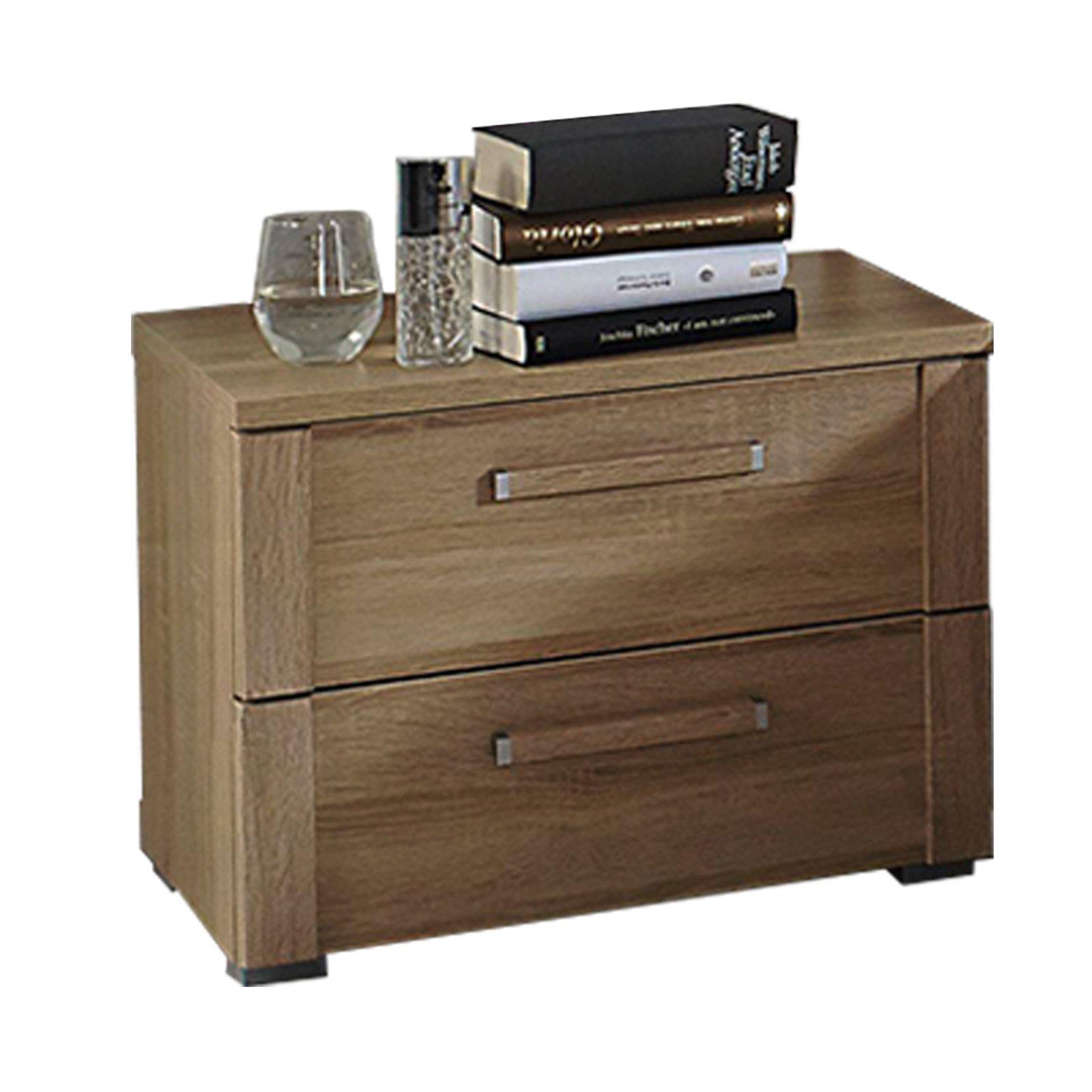 nachttisch solo sonoma eiche 2 schubk sten schlafzimmer solo schlafzimmerprogramme. Black Bedroom Furniture Sets. Home Design Ideas