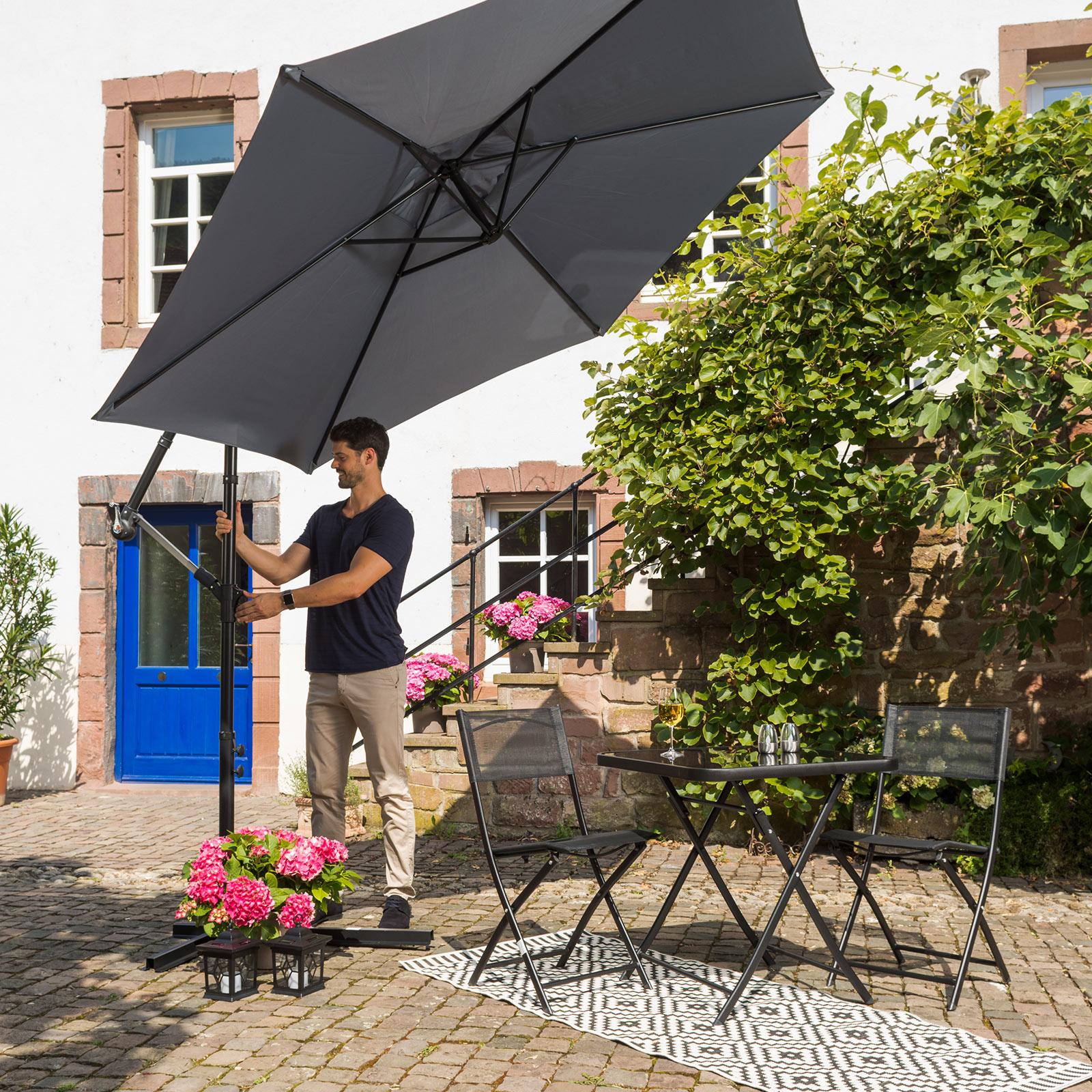 Gardiola Balkonmobel Set Schwarz Klappbar Online Bei Roller