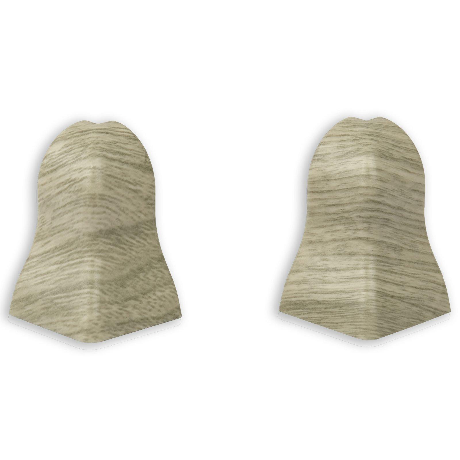 2er-Set Außenecken - Eiche Arizona - für Sockelleiste K40