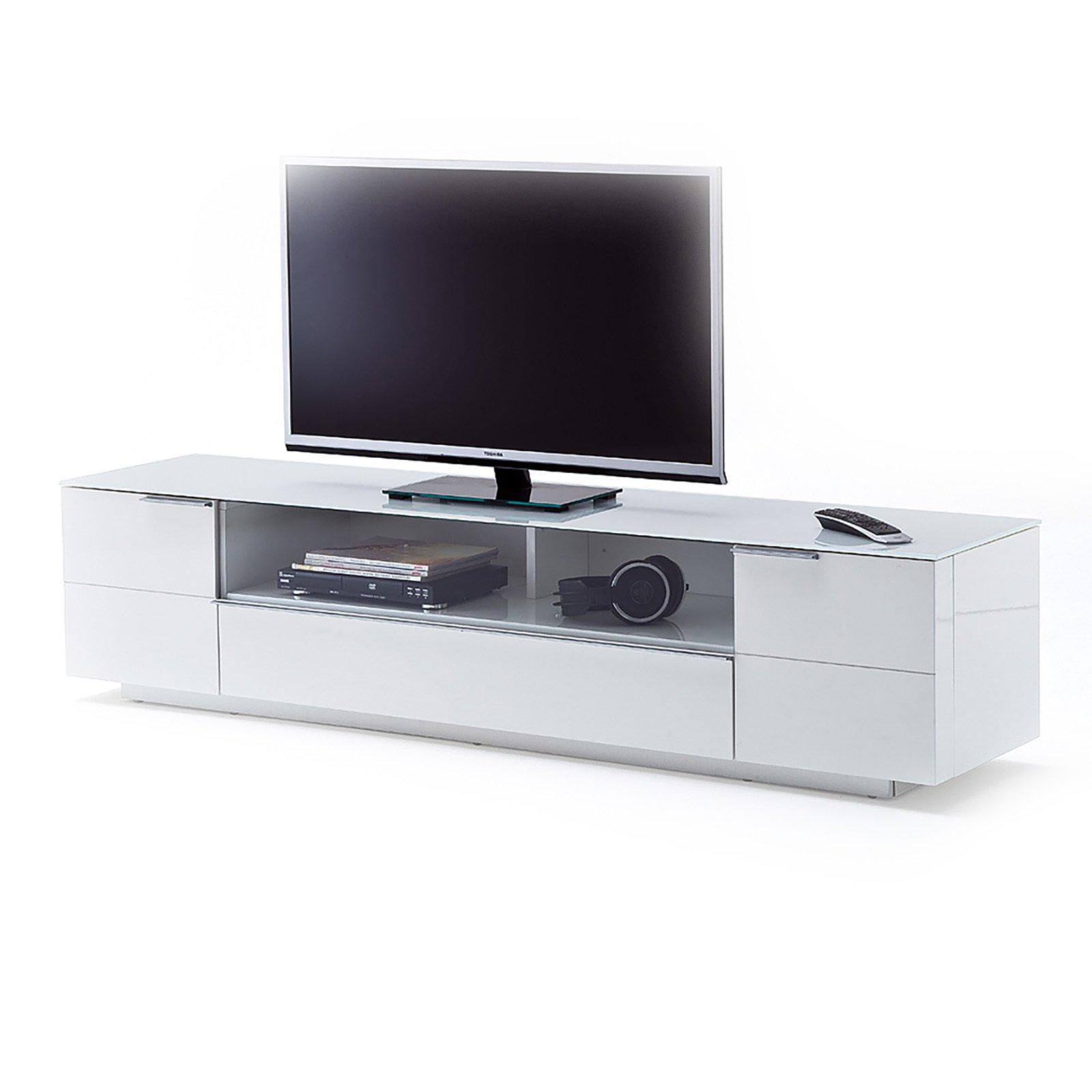 tv lowboard canberra wei hochglanz ebay. Black Bedroom Furniture Sets. Home Design Ideas