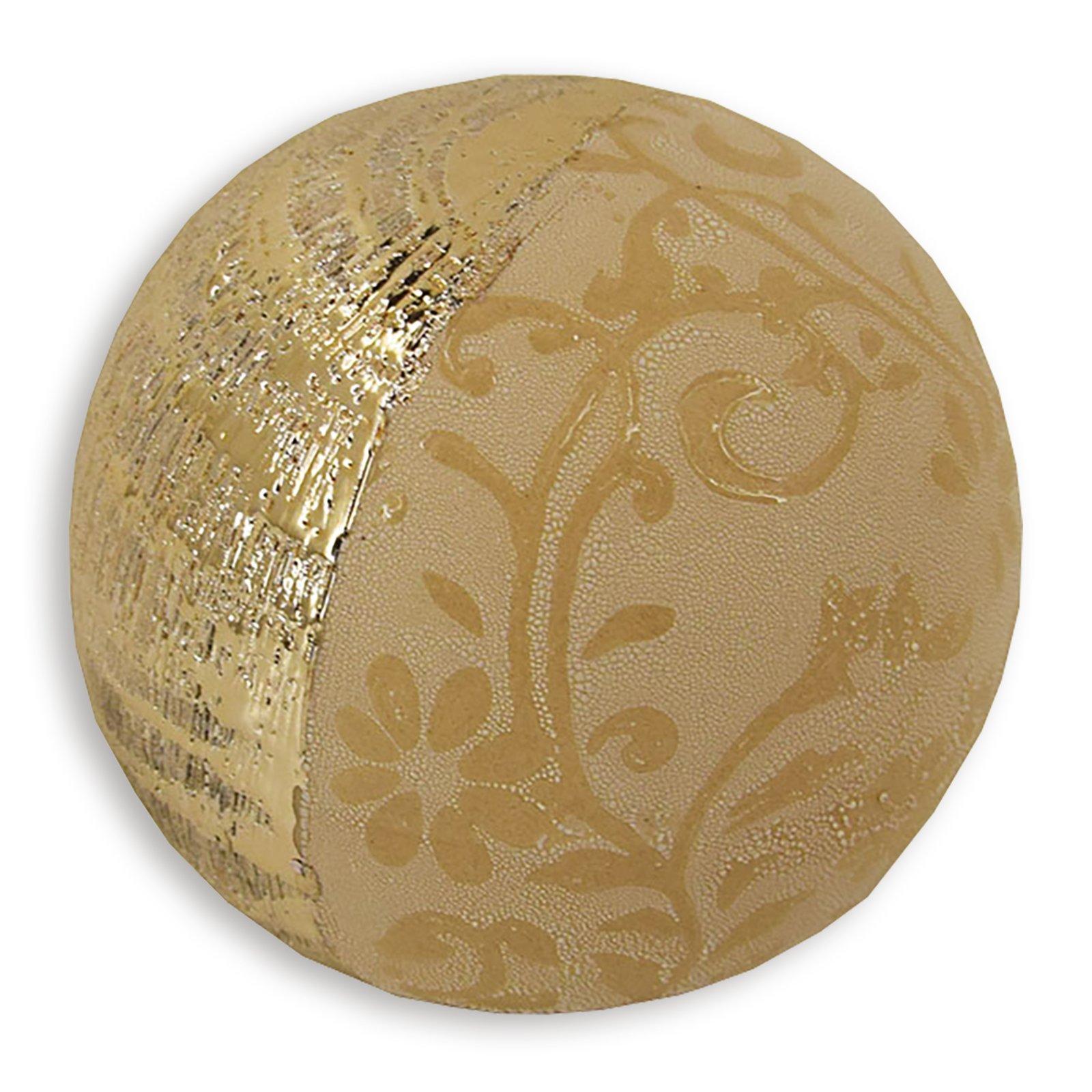 Deko kugel gold keramik blumendekor 10 cm for Deko objekte wohnzimmer