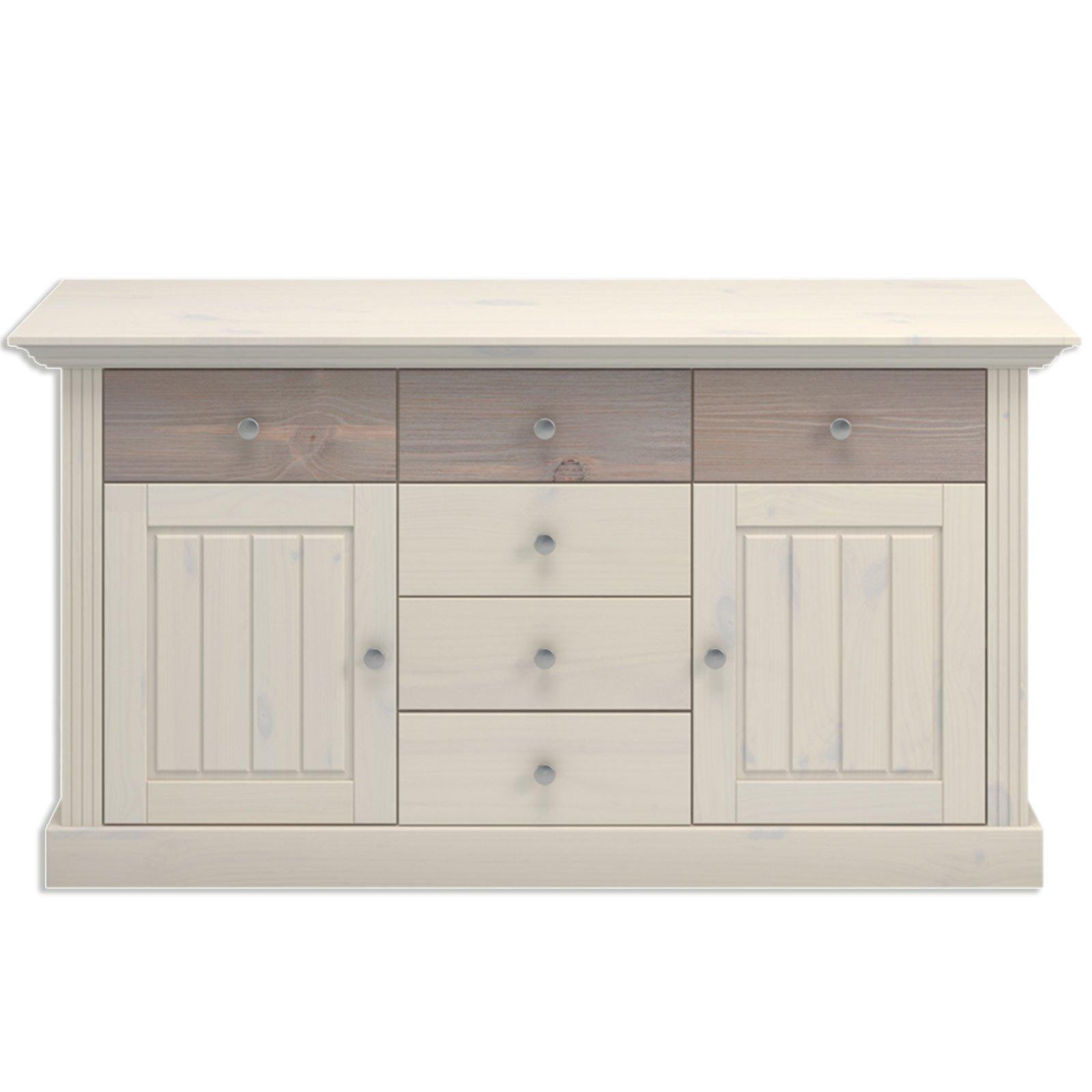 sideboard monaco white wash tr ffel kiefer massiv. Black Bedroom Furniture Sets. Home Design Ideas