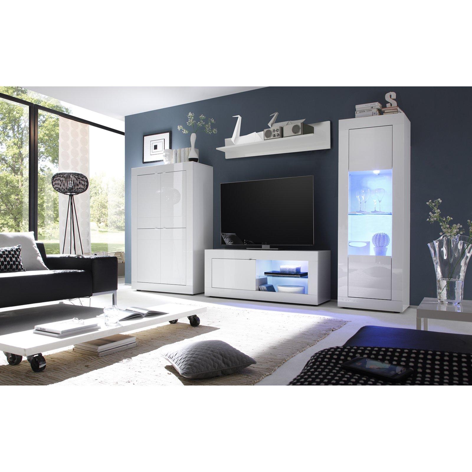 Tv Lowboard Weiss Hochglanz 140 Cm Breit