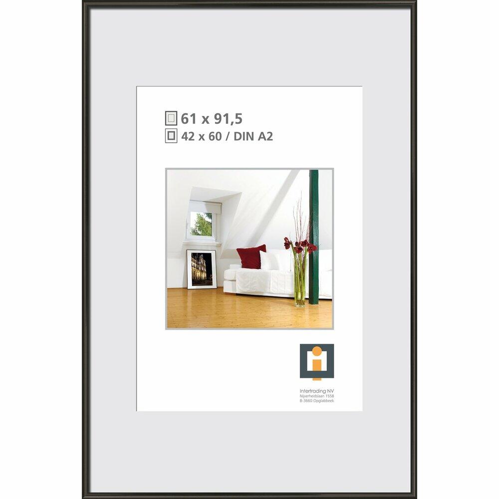 bilderrahmen schwarz kunststoff 61x91 5 cmangebot. Black Bedroom Furniture Sets. Home Design Ideas