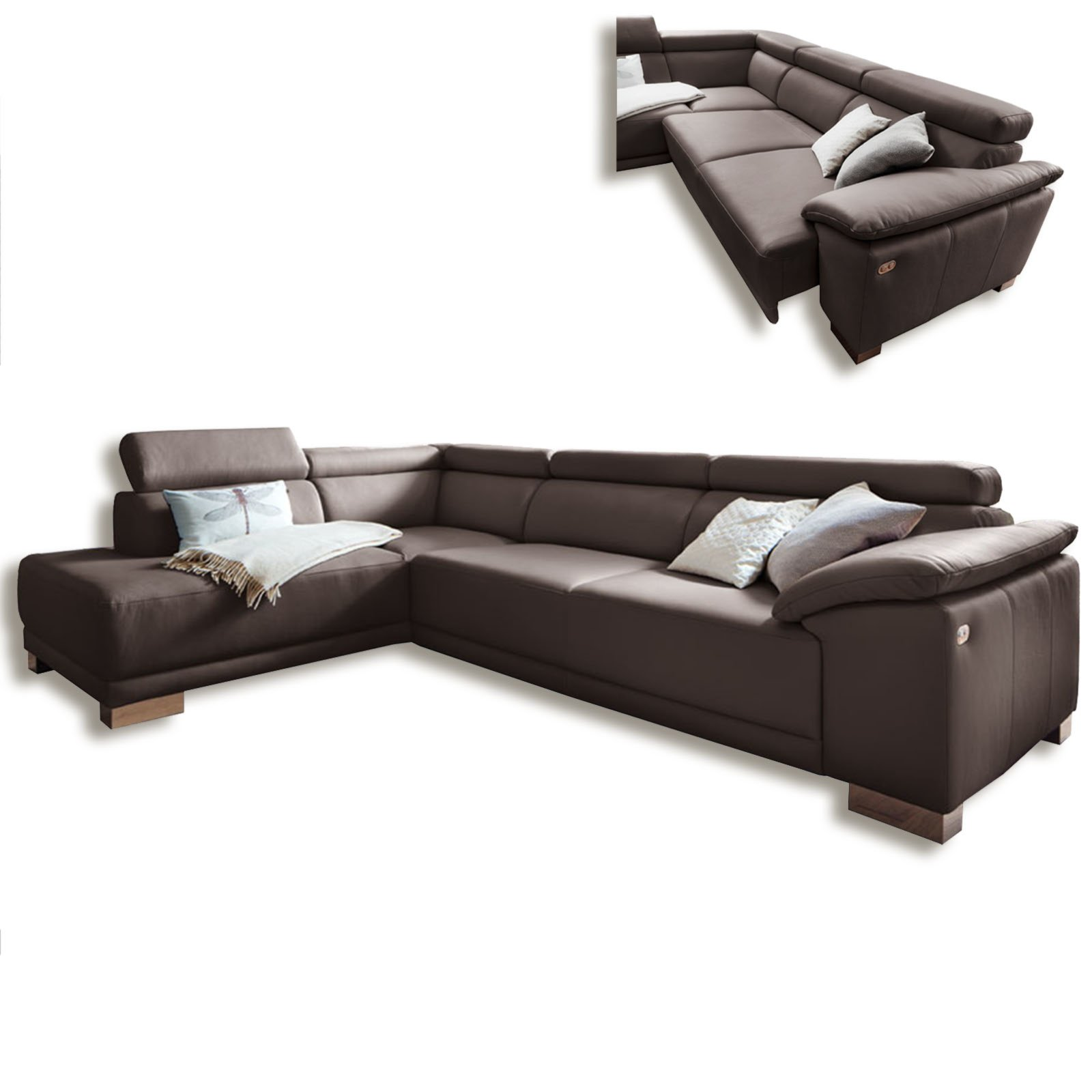 ledercouch braun great braune ledercouch with ledercouch. Black Bedroom Furniture Sets. Home Design Ideas