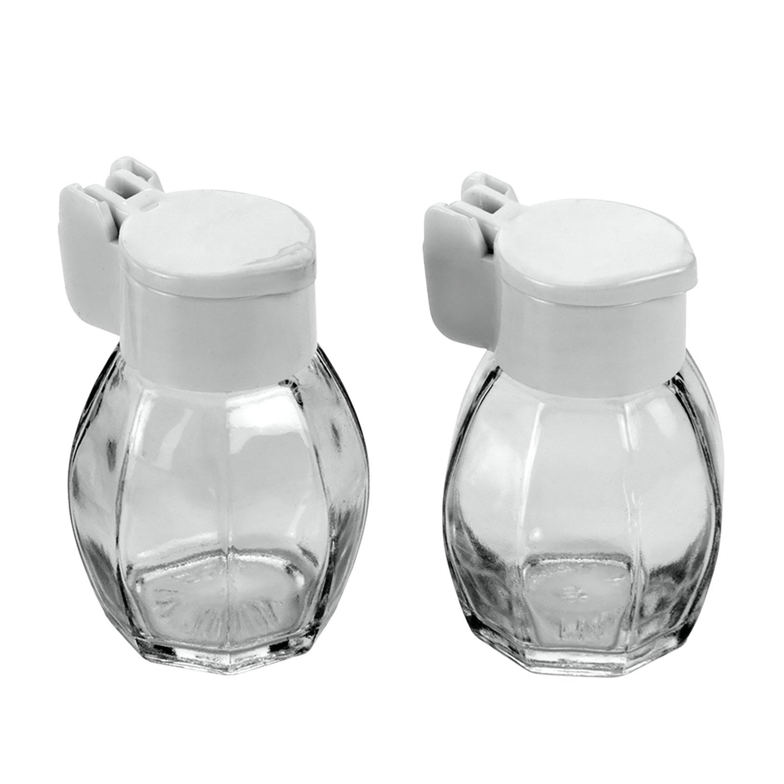 salz und pfefferstreuer set glas kunststoff k chenhelfer haushalts k chenzubeh r. Black Bedroom Furniture Sets. Home Design Ideas