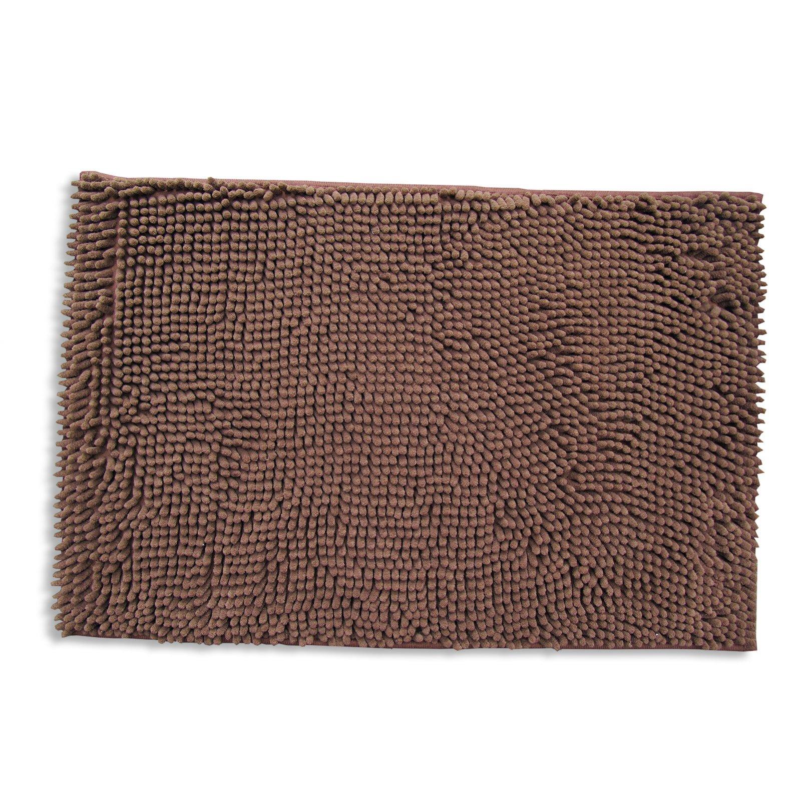 badteppich chenille braun 60x100 cm badteppiche. Black Bedroom Furniture Sets. Home Design Ideas