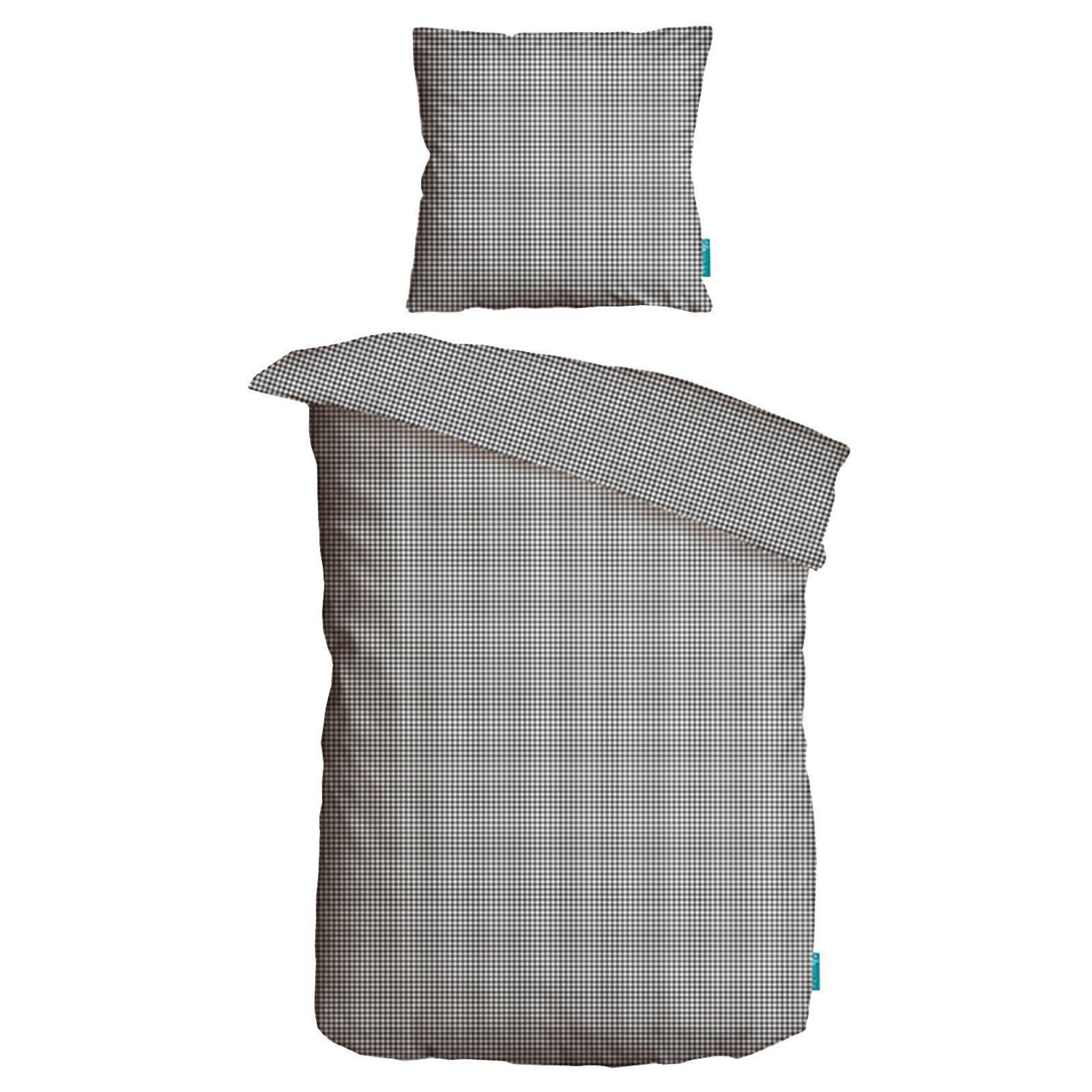 renforc bettw sche malm anthrazit karo 155x220 cm bettw sche bettw sche bettlaken. Black Bedroom Furniture Sets. Home Design Ideas