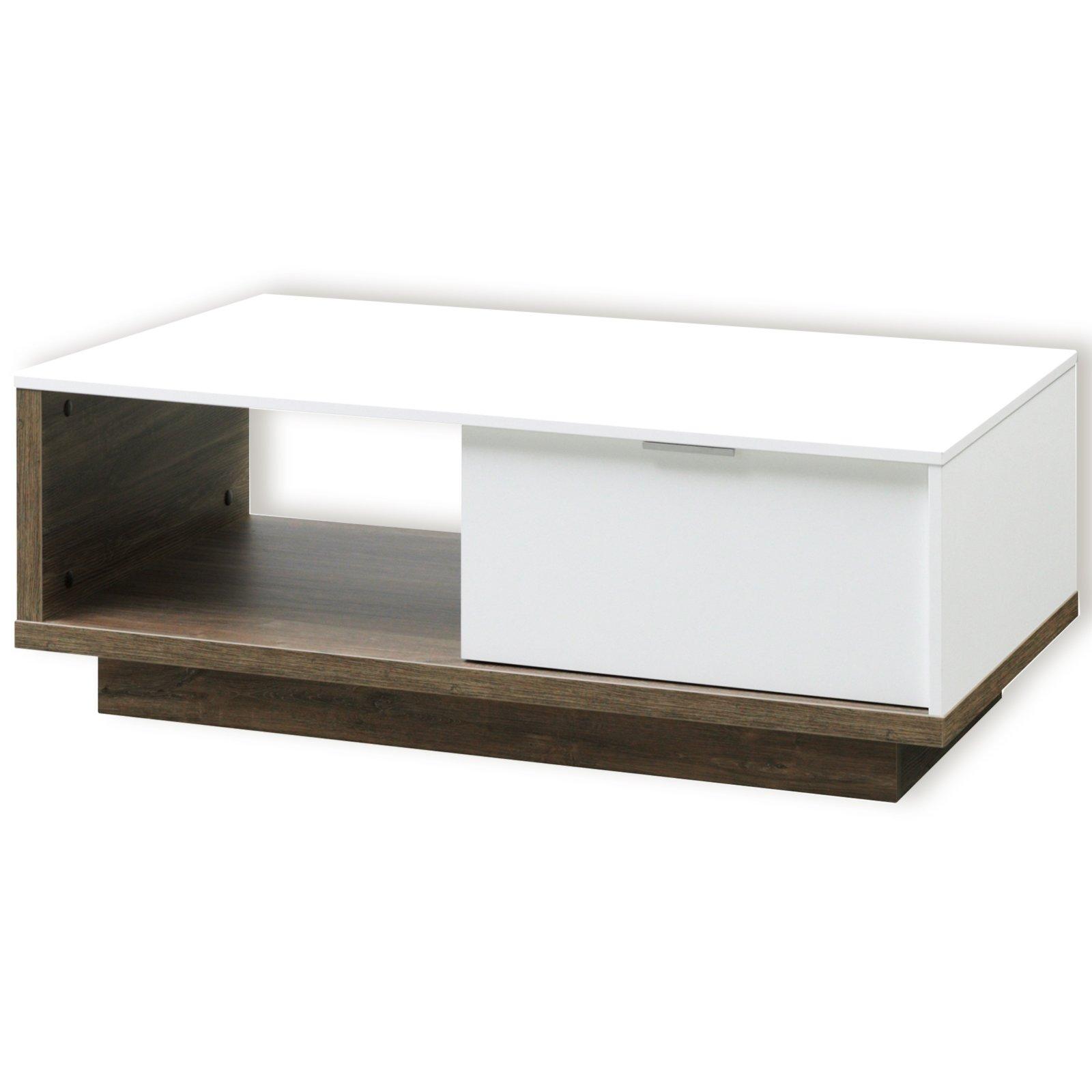 roller couchtisch my ell wei stirling eiche 106 cm ebay. Black Bedroom Furniture Sets. Home Design Ideas