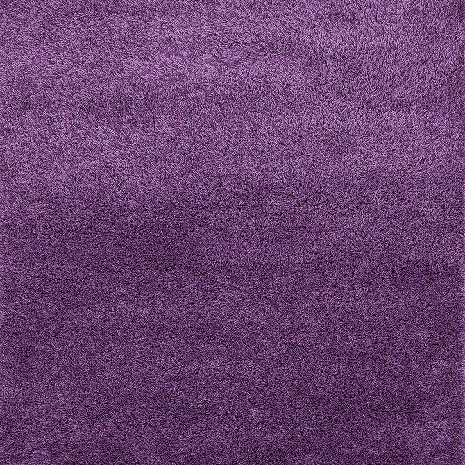 teppich shaggy plus lila 50x100 cm einfarbige teppiche teppiche l ufer deko. Black Bedroom Furniture Sets. Home Design Ideas