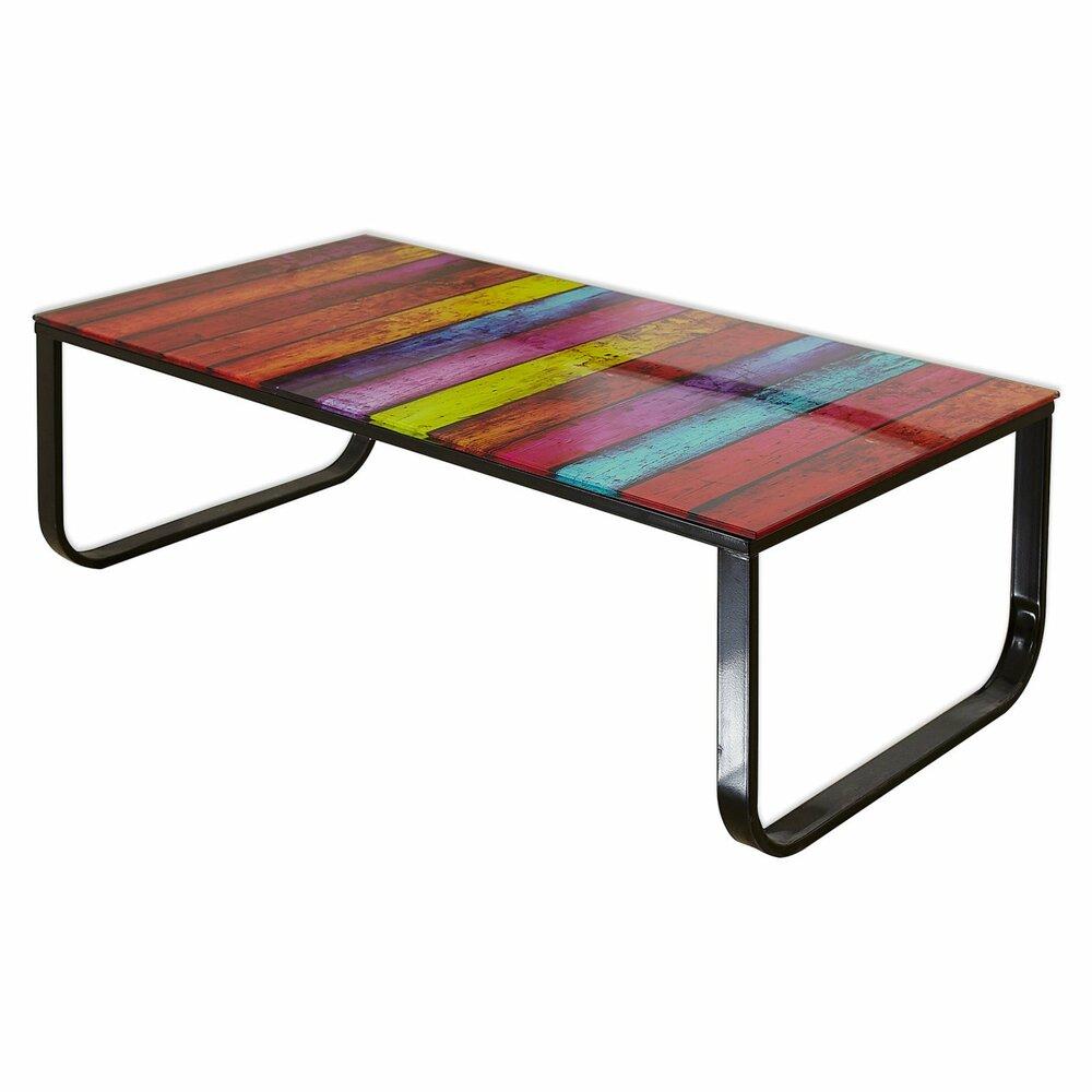 couchtisch mono rainbow schwarz bunt 105 cm breit couchtische wohnzimmer wohnbereiche. Black Bedroom Furniture Sets. Home Design Ideas