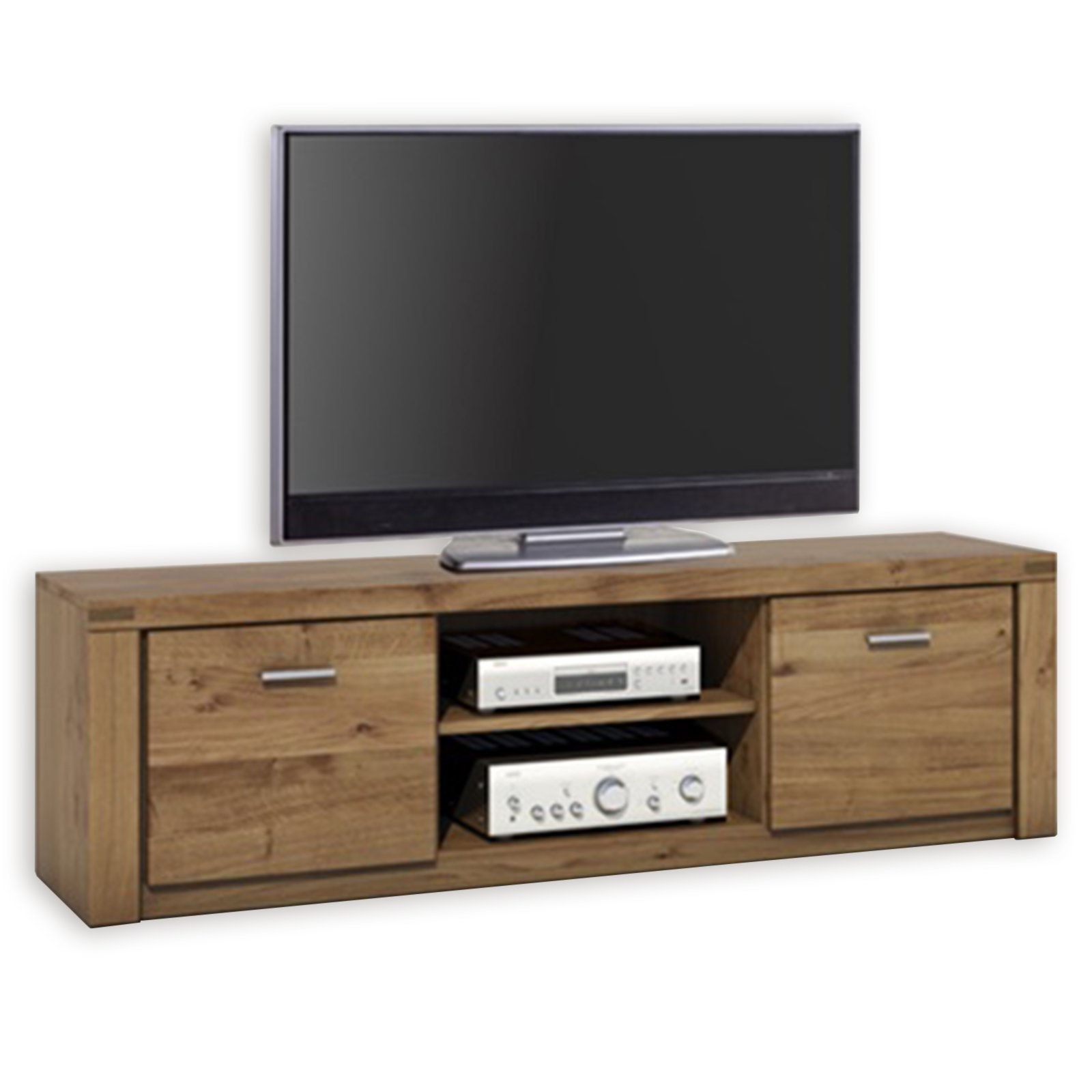 tv lowboard tabea wildeiche teilmassiv 170 cm tv lowboards tv b nke tv hifi m bel. Black Bedroom Furniture Sets. Home Design Ideas