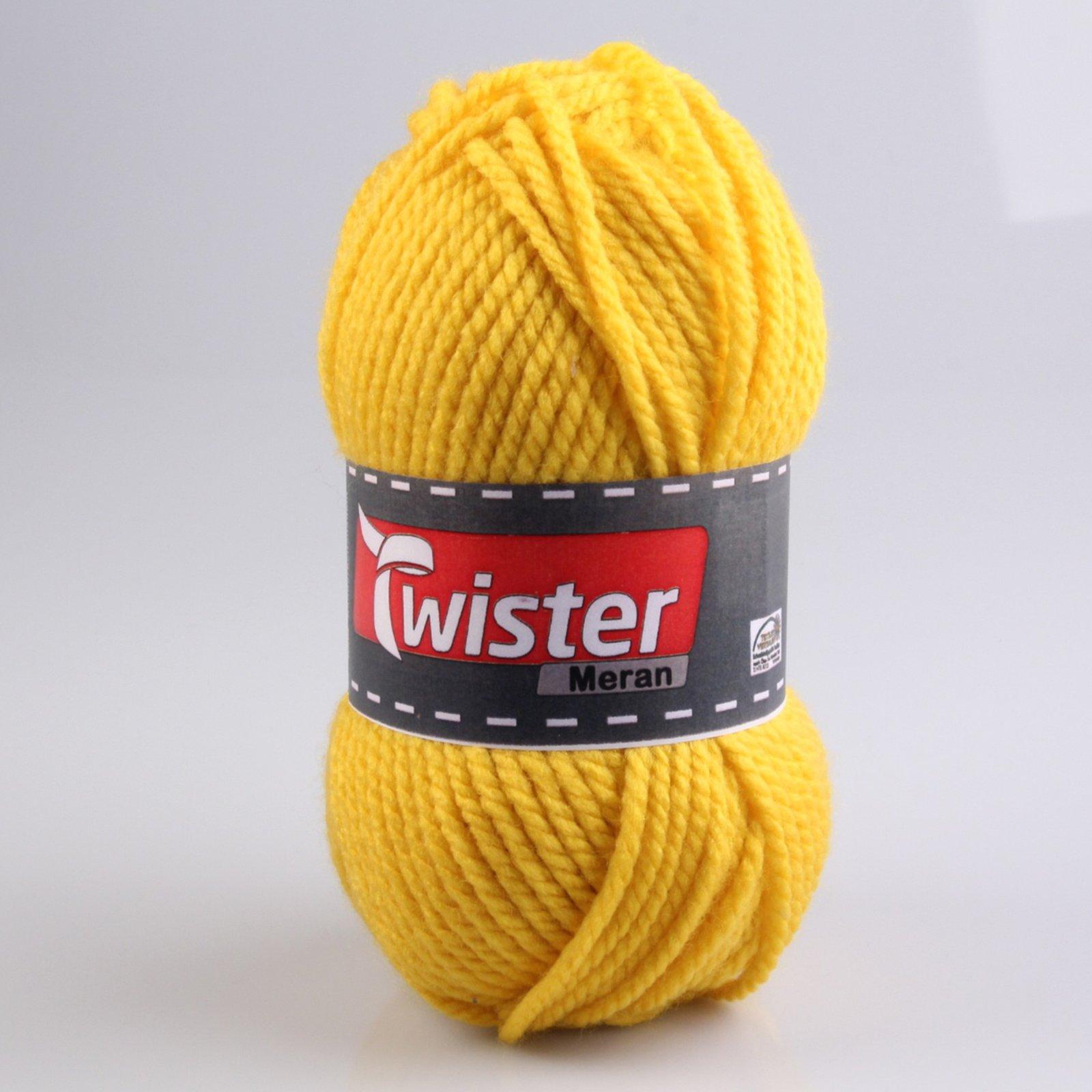 Wolle MERAN - gelb - 100g