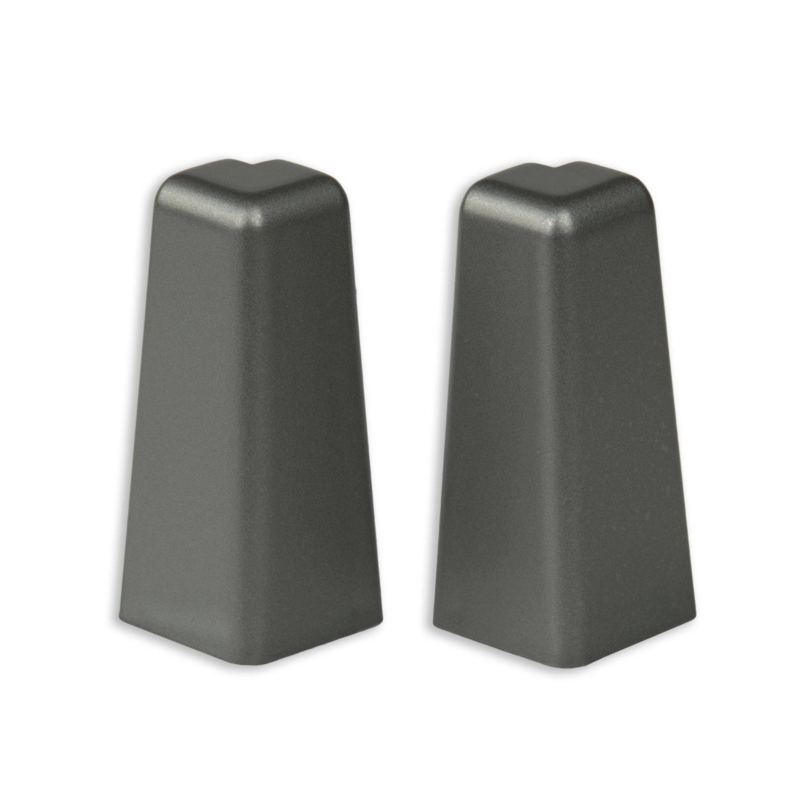 2er-Set Außenecken - Silber dunkel - für Sockelleiste K58