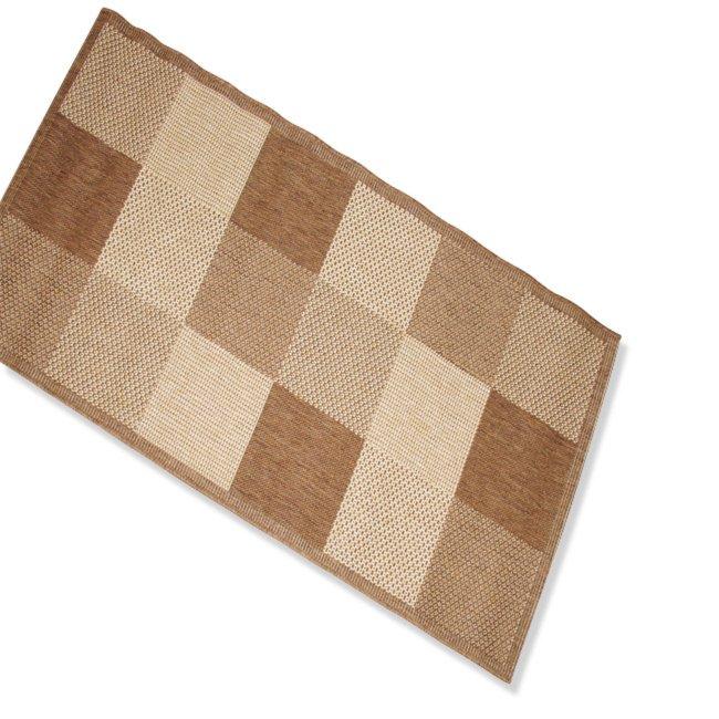 Teppich OSLO  braun Karo  80×150 cm  Gemusterte