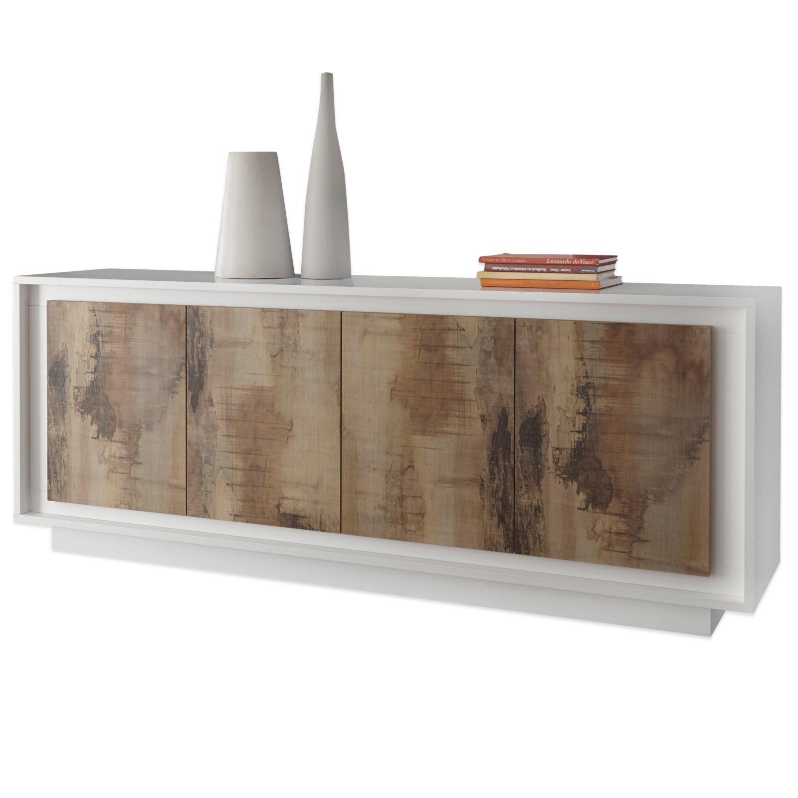 sideboard loft wei matt braun 207x80 cm kommoden sideboards m bel roller m belhaus. Black Bedroom Furniture Sets. Home Design Ideas