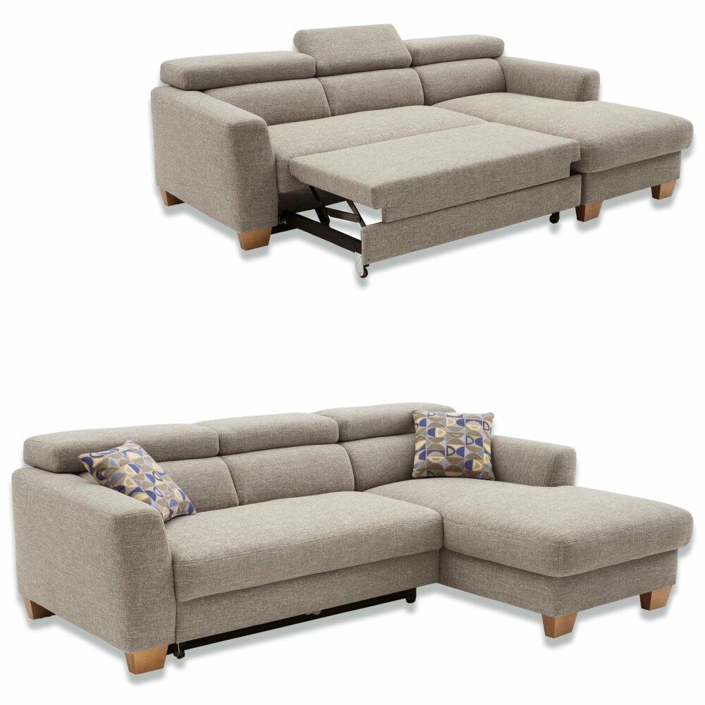ecksofa grau beige recamiere rechts ecksofas l form sofas couches m bel roller. Black Bedroom Furniture Sets. Home Design Ideas