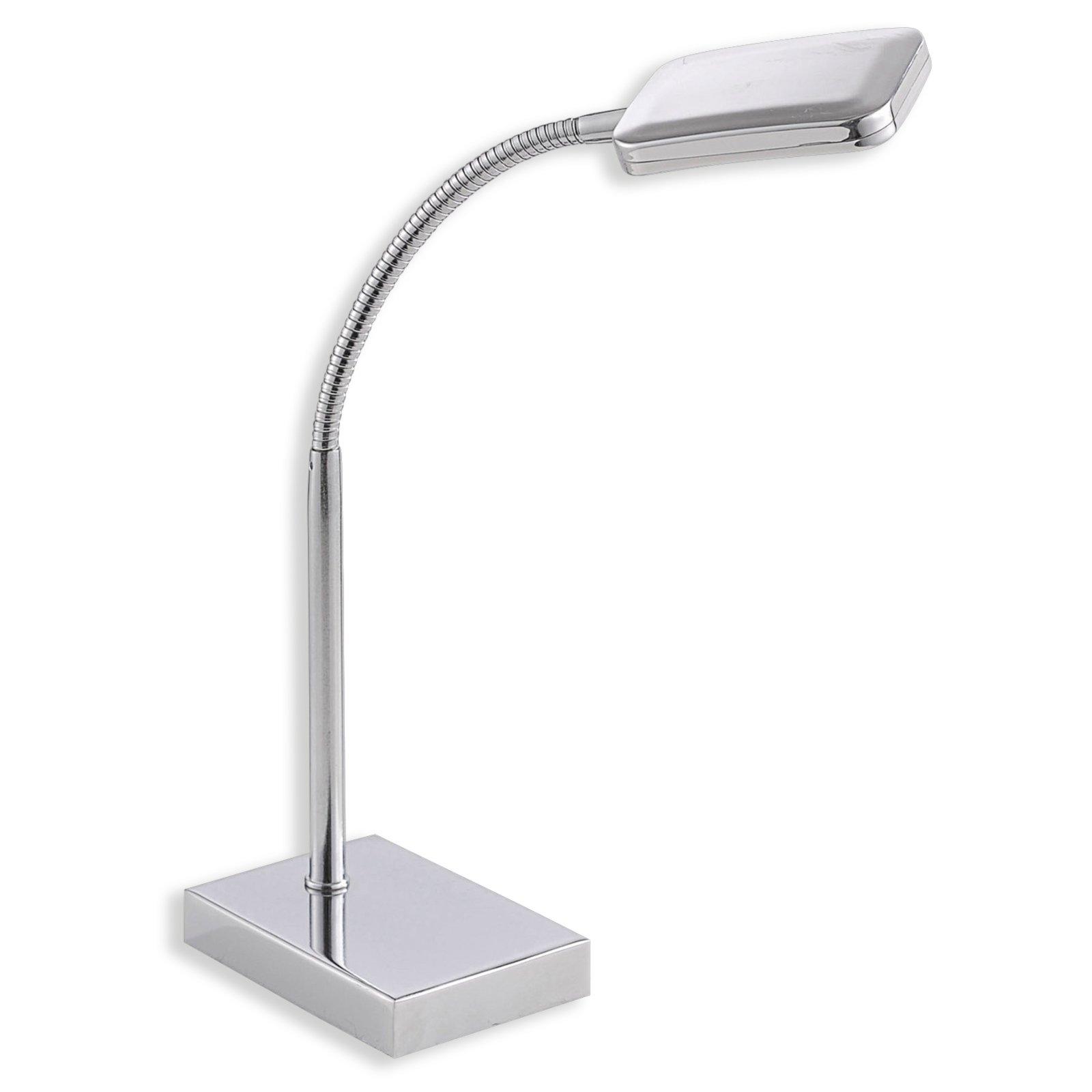 LED-Schreibtischleuchte WELLA - Chrom - Flexarm
