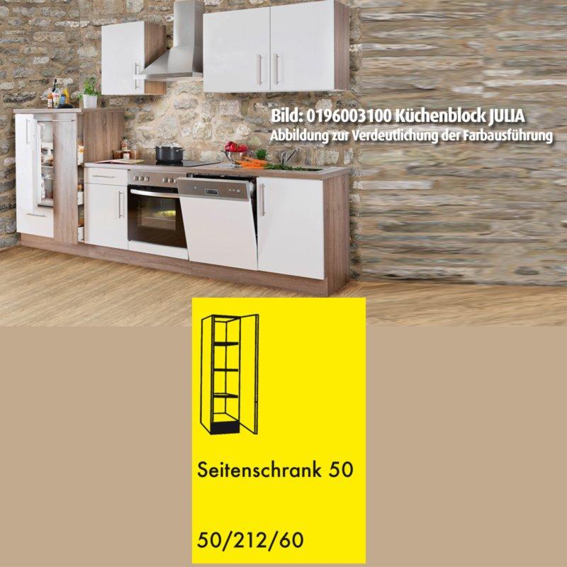 hochschrank julia wei hochglanz tr ffel 50 cm ebay. Black Bedroom Furniture Sets. Home Design Ideas