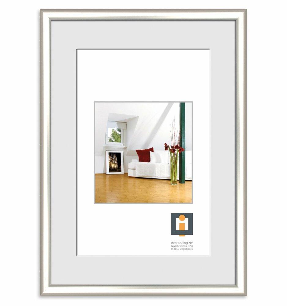 bilderrahmen silber kunststoff 60x80 cmangebot bei. Black Bedroom Furniture Sets. Home Design Ideas