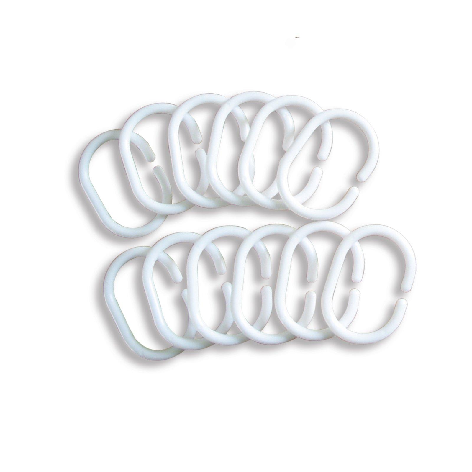12er pack ringe wei kunststoff gardinenstangen gardinen zubeh r gardinen vorh nge. Black Bedroom Furniture Sets. Home Design Ideas