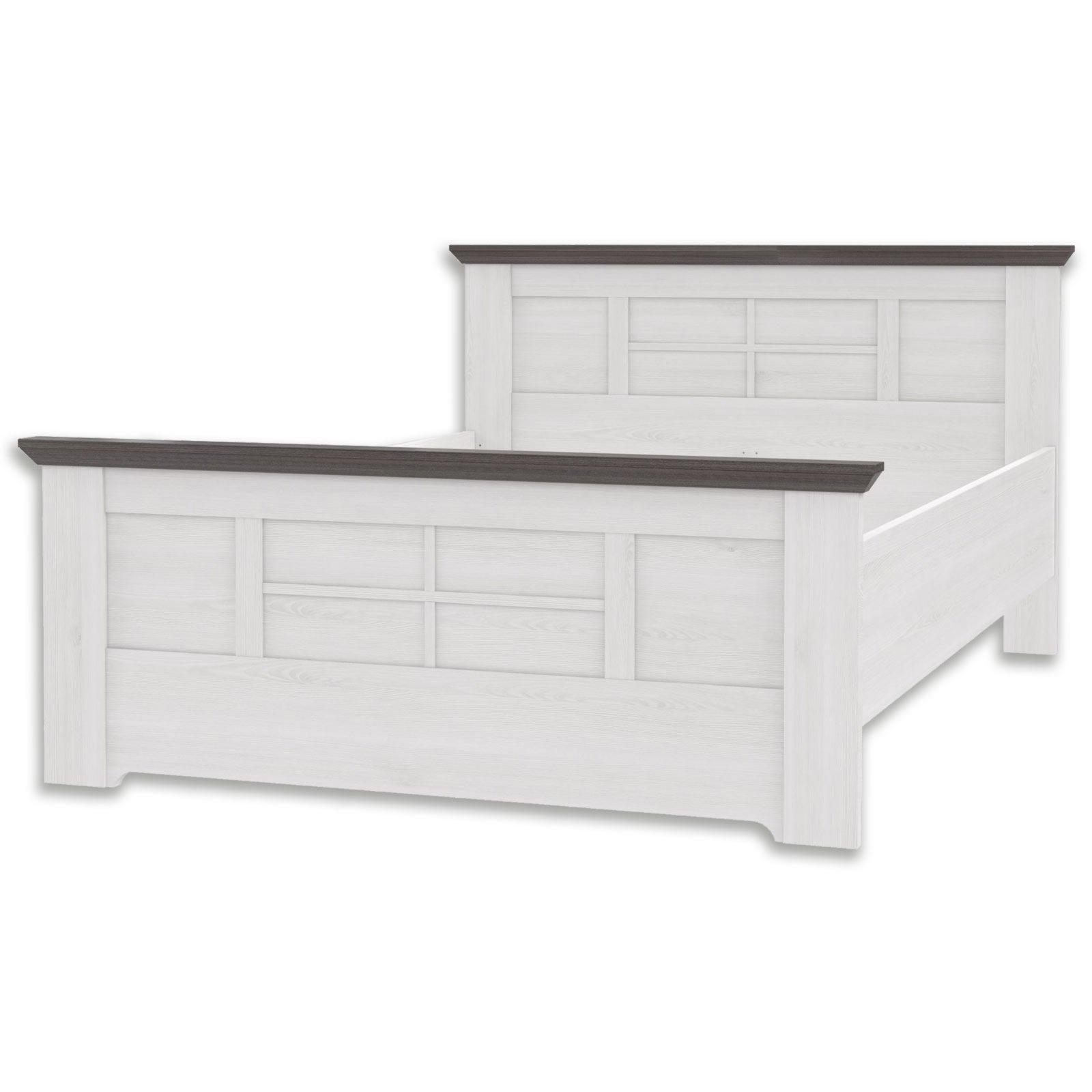 bett gasparo schneeeiche pinie grau 140x200 cm bettgestelle betten m bel roller. Black Bedroom Furniture Sets. Home Design Ideas