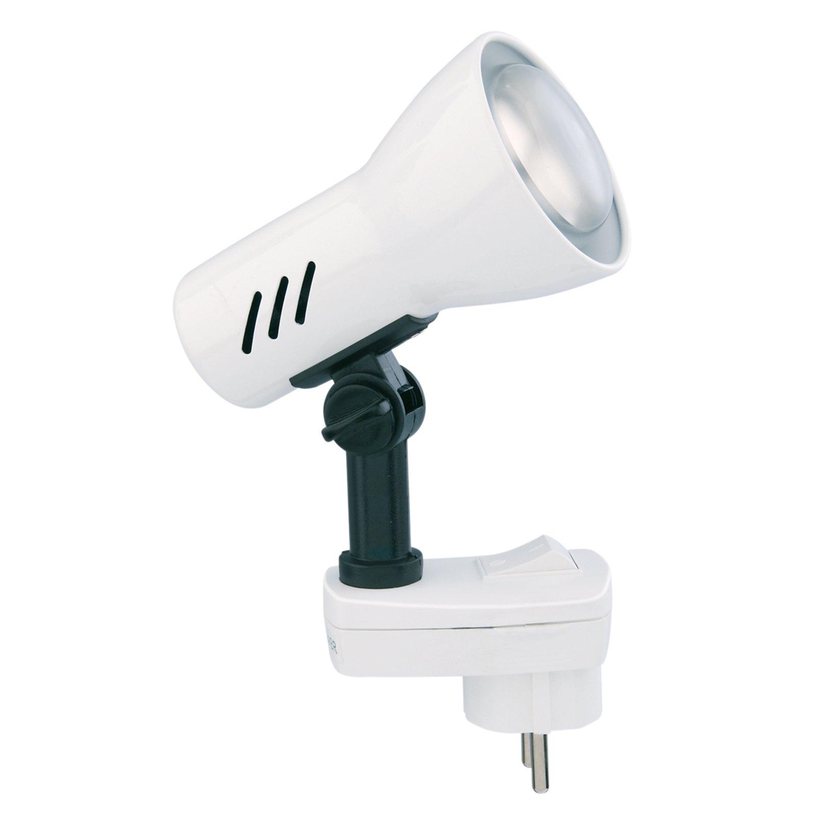 Steckdosenlampe FICHE - weiß - 1-flammig