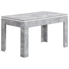 Esstisch STONE   Beton Weiß   Ausziehbar