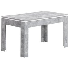Esstisch   Beton Weiß   Ausziehbar