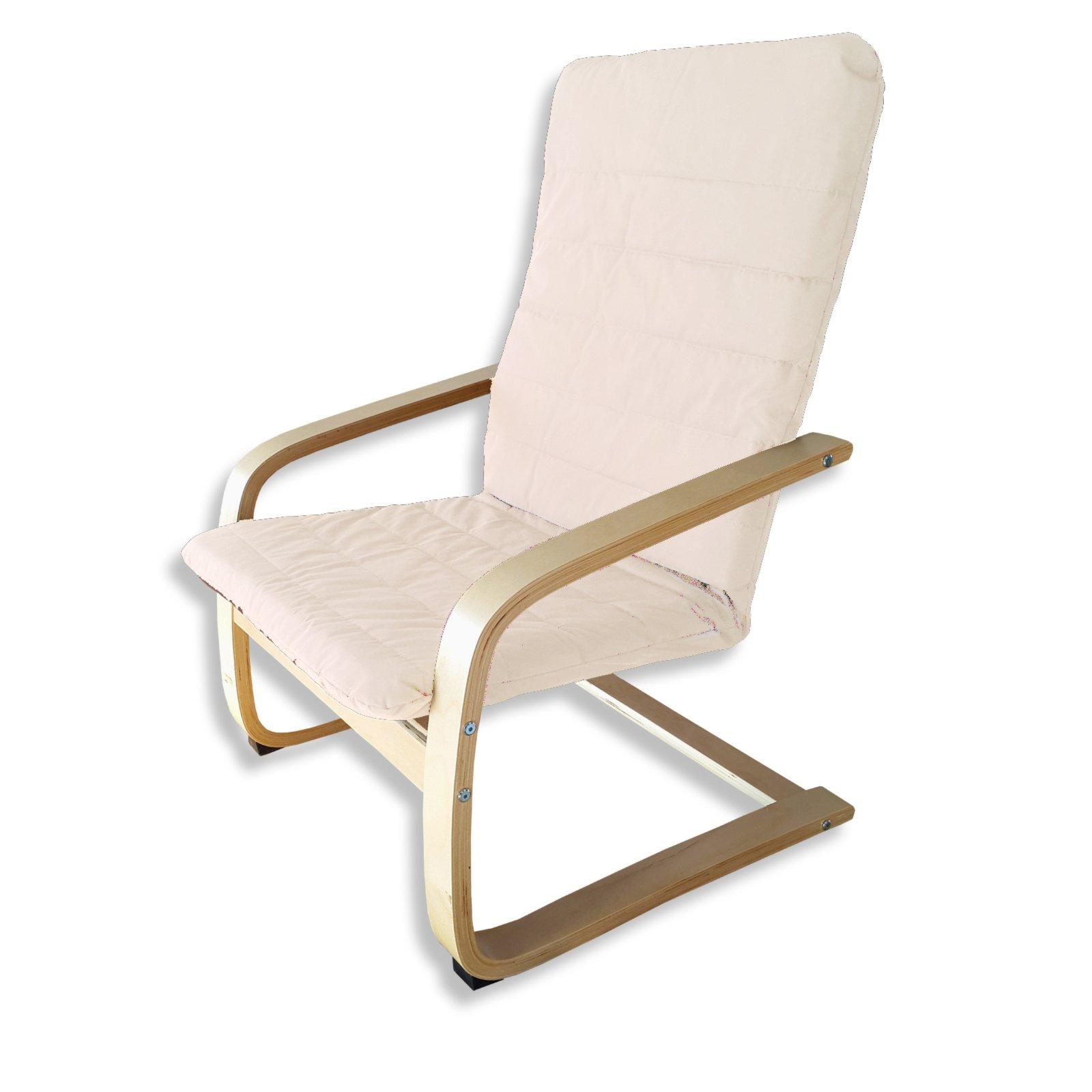 schwingsessel beige massivholz schwingsessel. Black Bedroom Furniture Sets. Home Design Ideas