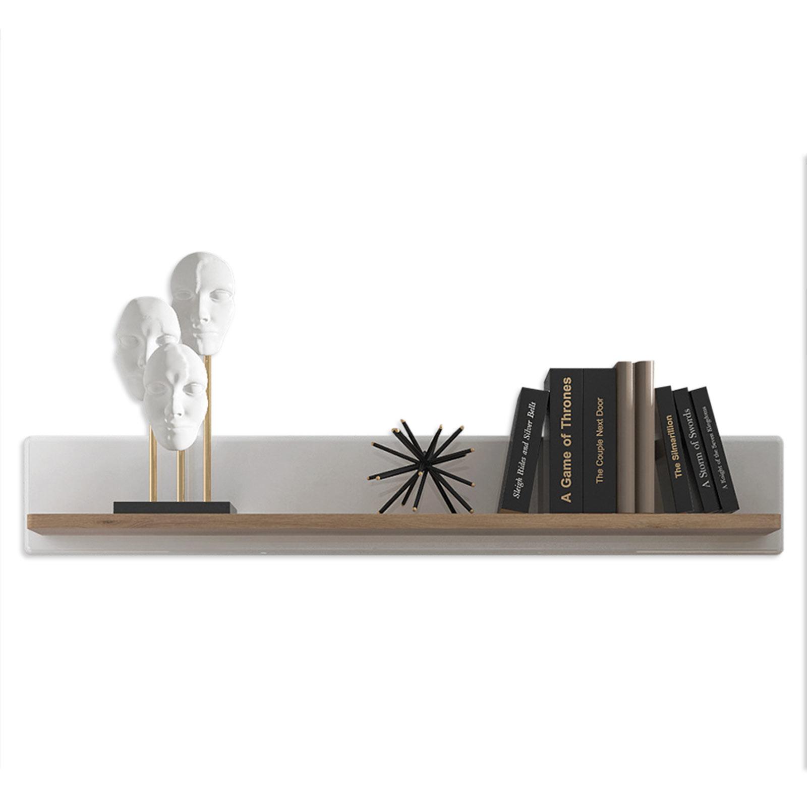 Wandboard - weiß Hochglanz-Alteiche - 138 cm breit