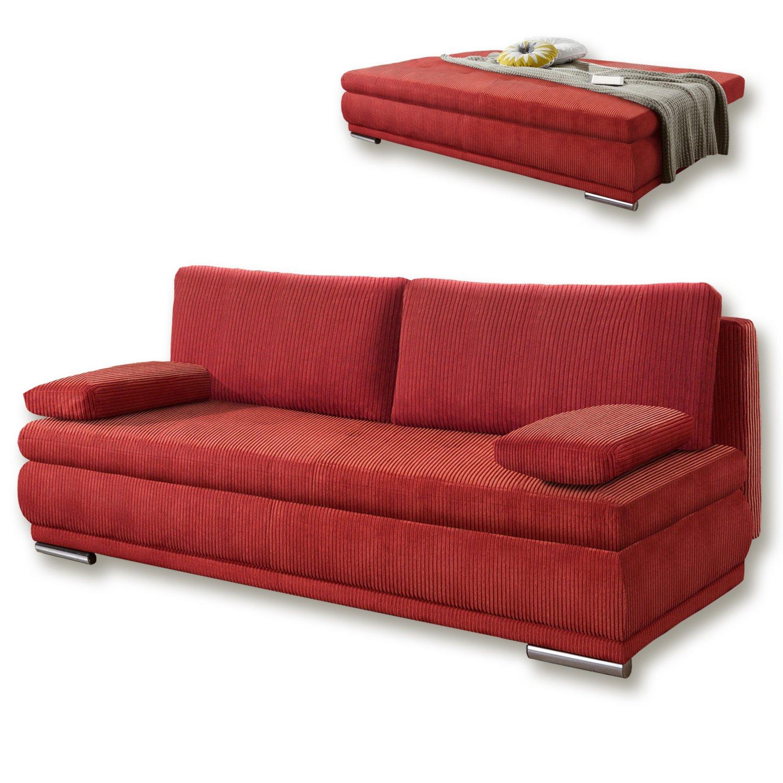 schlafsofa rot federkern 203x144 cm schlafsofas. Black Bedroom Furniture Sets. Home Design Ideas