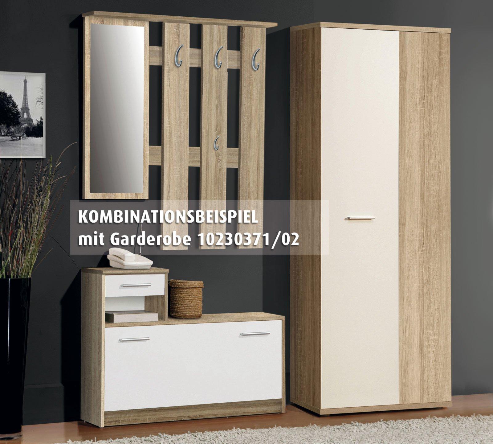 roller schuhschrank net sonoma eiche 69 cm ebay. Black Bedroom Furniture Sets. Home Design Ideas
