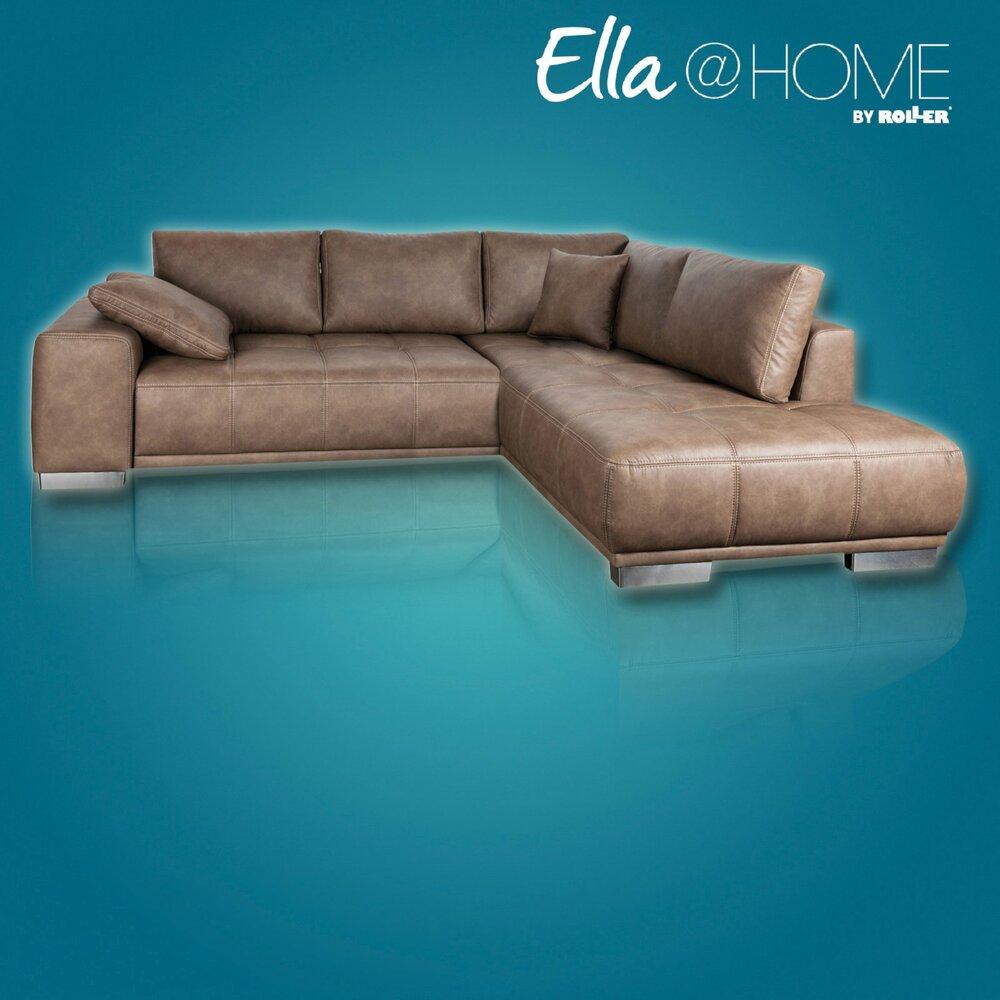 ecksofa braun recamiere rechts liegefunktionangebot. Black Bedroom Furniture Sets. Home Design Ideas