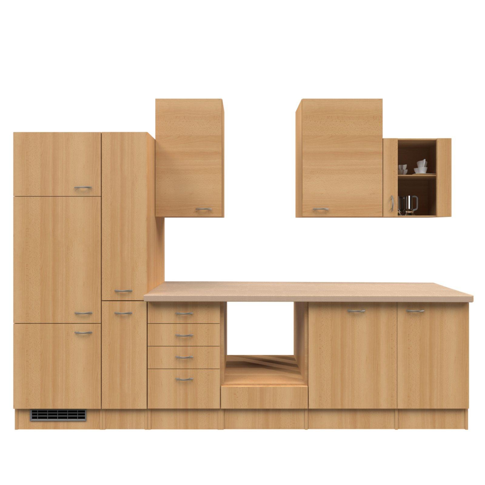 Küchenblock NANO - Buche - 310 cm