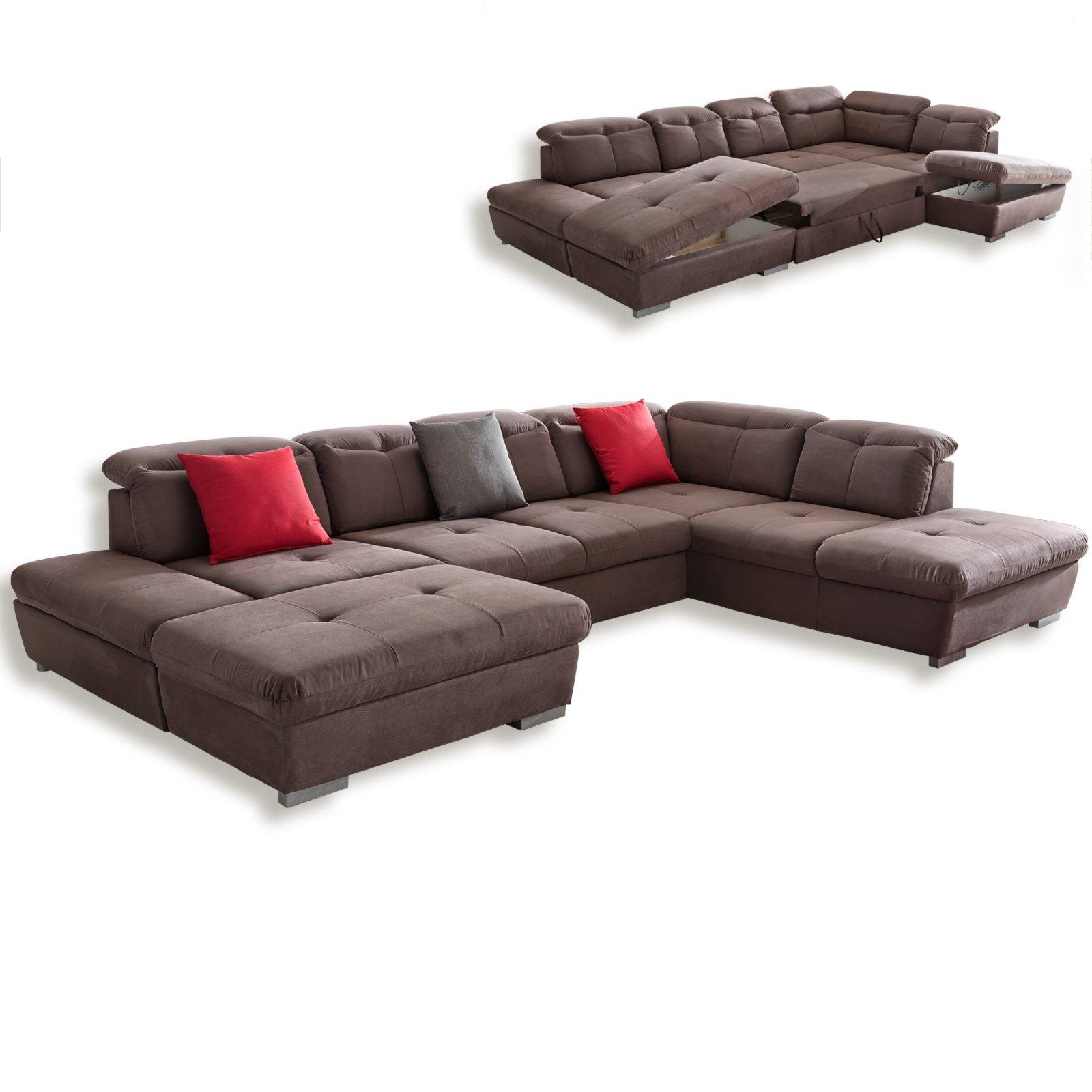 wohnlandschaft braun liegefunktion ottomane rechts wohnlandschaften u form sofas. Black Bedroom Furniture Sets. Home Design Ideas