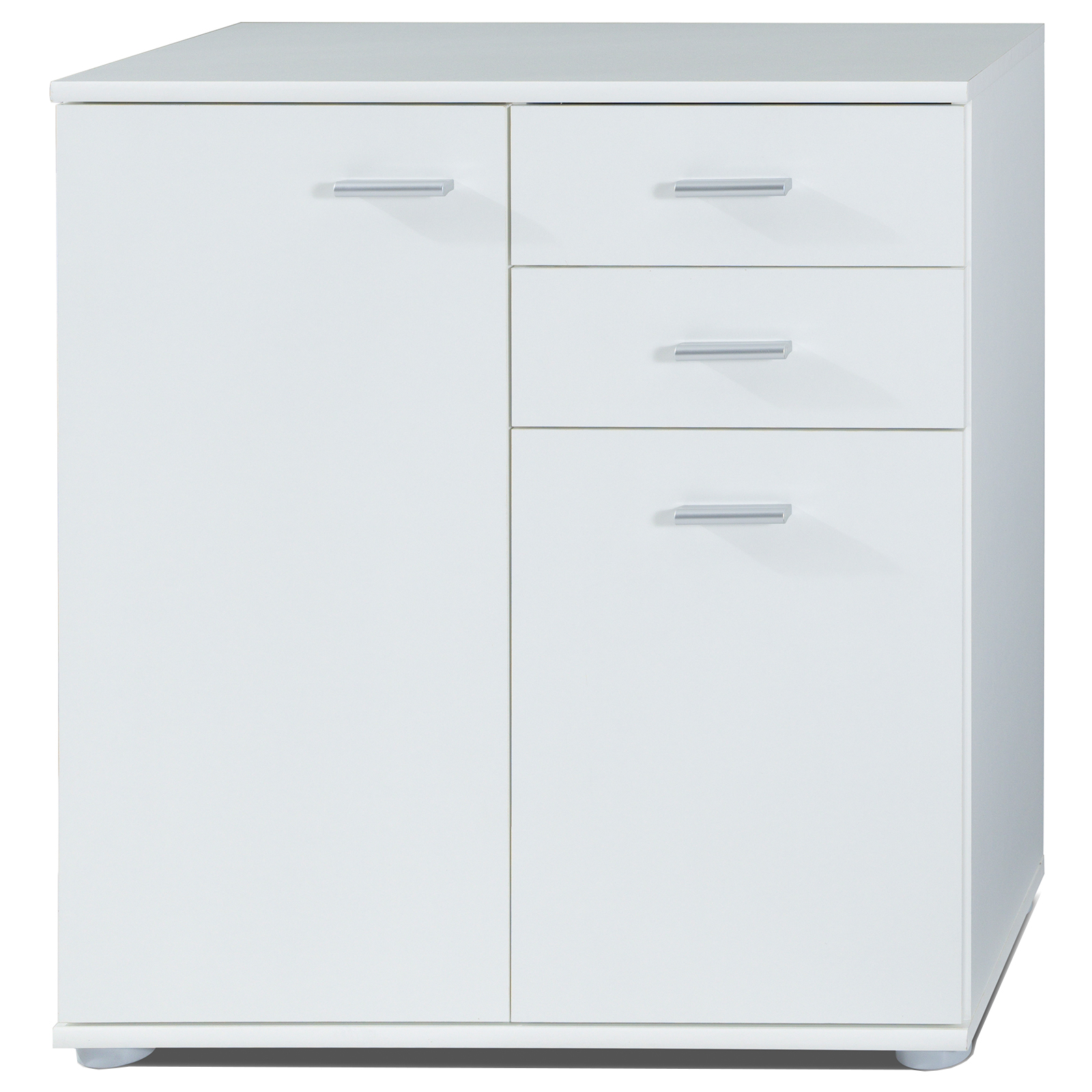 Kommode - weiß - Türen und Schubladen - 71 cm breit