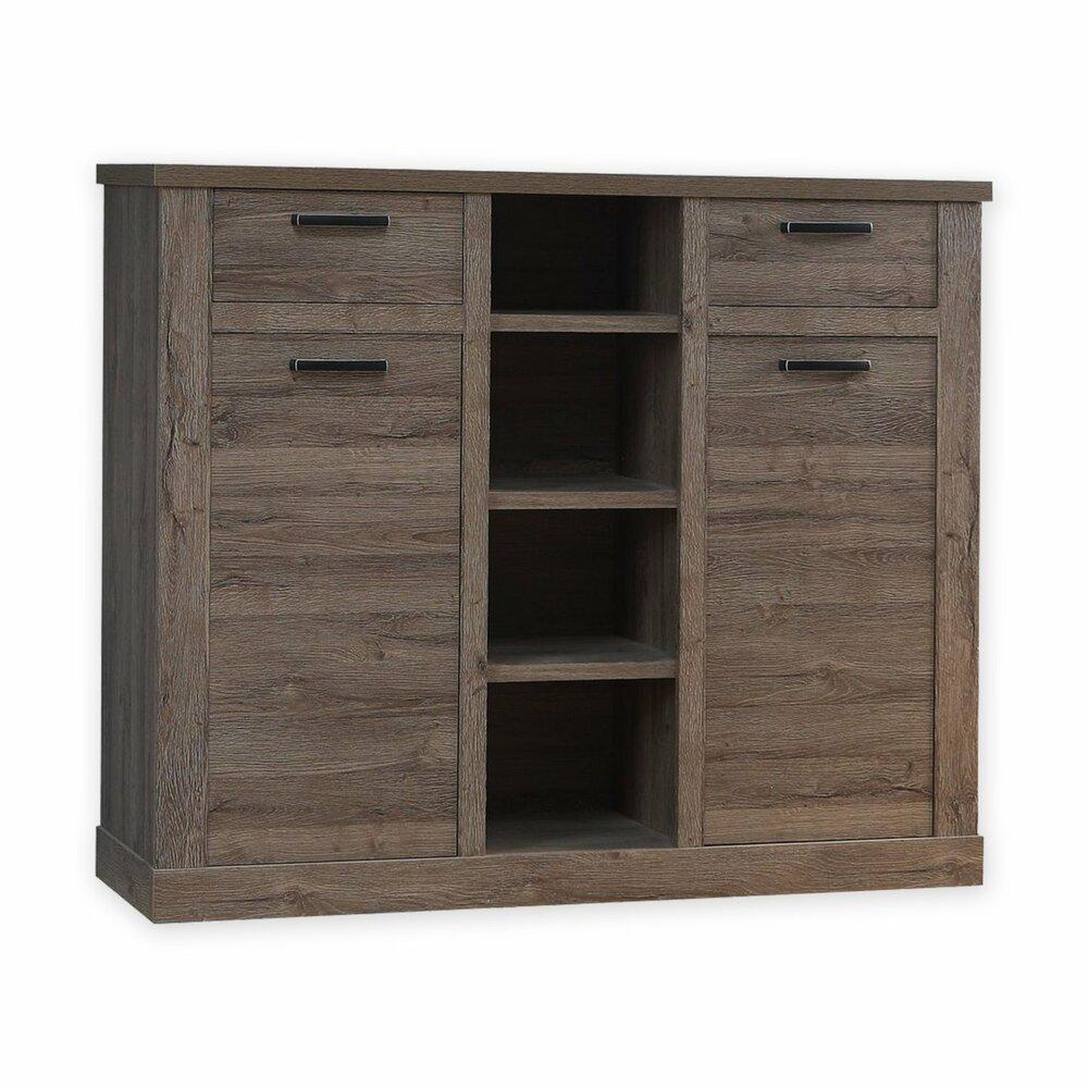 sideboard corona eiche tabak 160 cm breit wohnprogramm corona wohnprogramme wohnzimmer. Black Bedroom Furniture Sets. Home Design Ideas