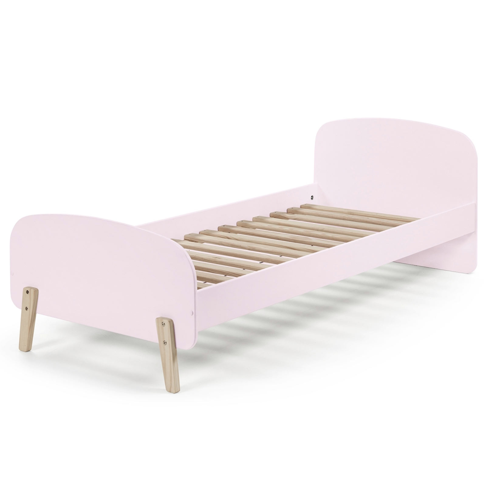 Einzelbett KIDDY - rosa-Kiefer massiv - 90x200 cm