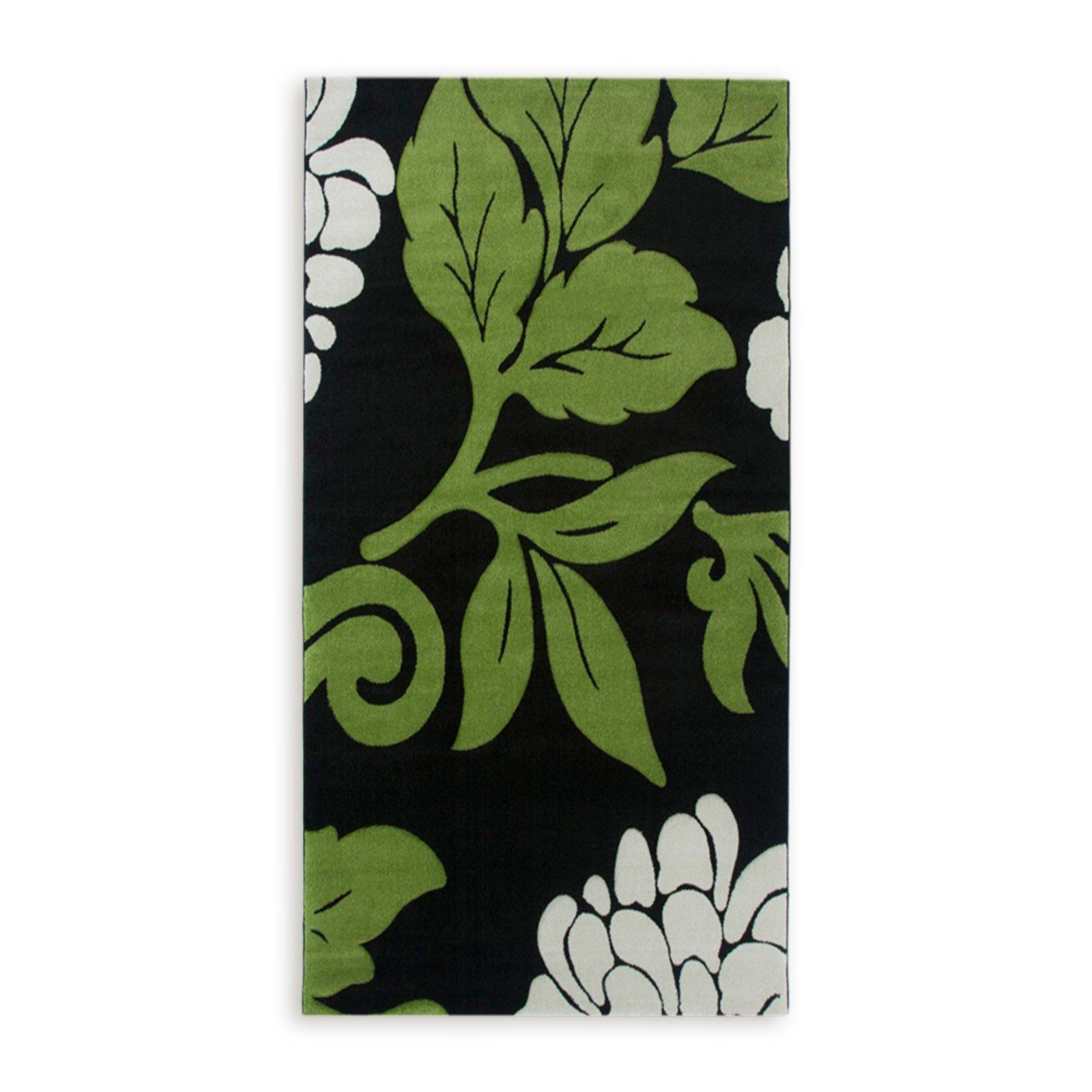 teppich florida gr n 80x150 cm gemusterte teppiche teppiche l ufer deko haushalt. Black Bedroom Furniture Sets. Home Design Ideas